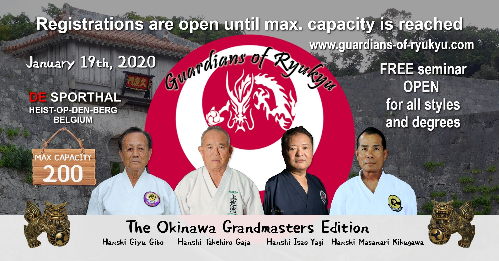 Gardians of Ryu Kyu Grand Masters Edition 17 January 2020