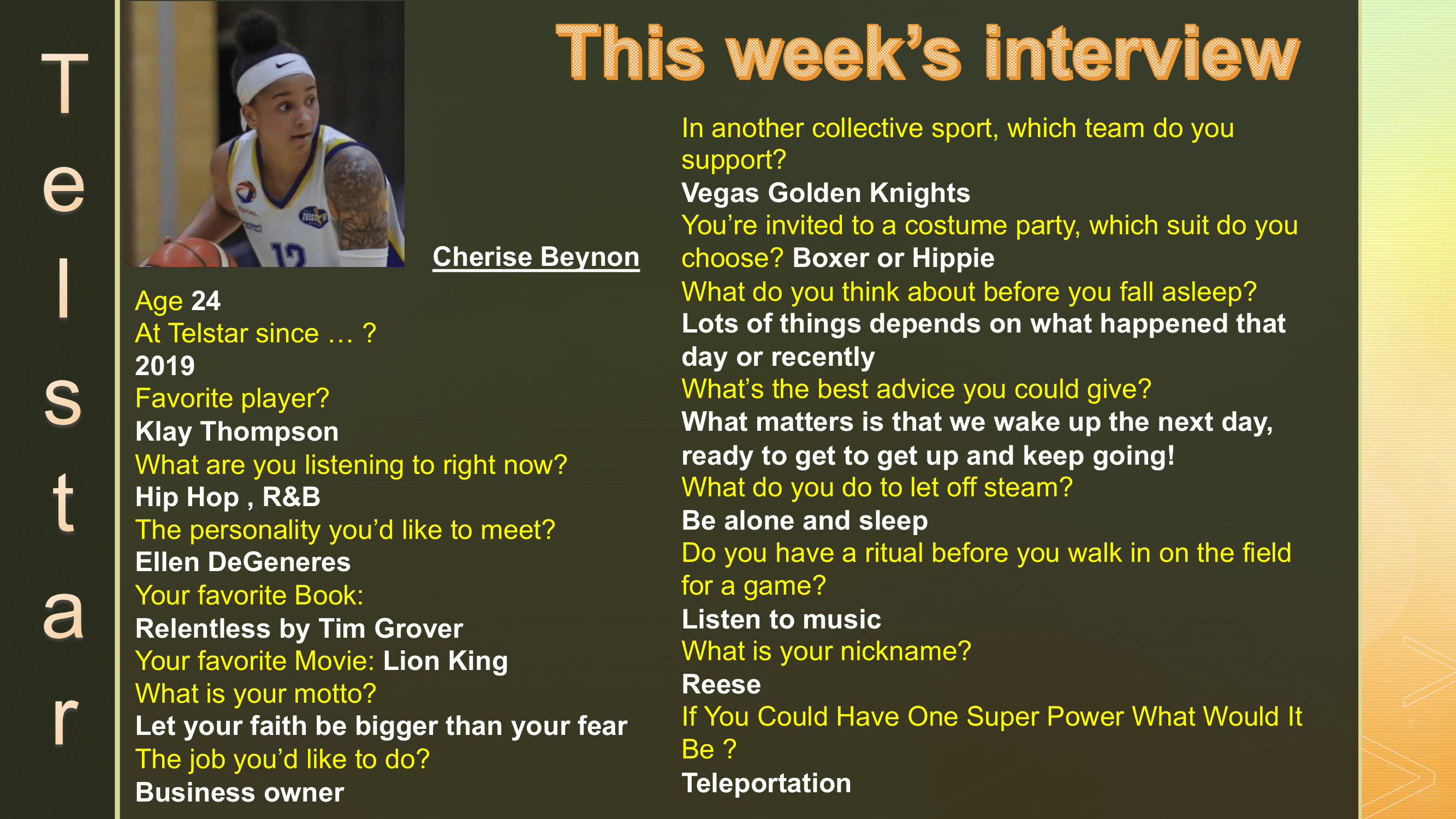 Interview of the Week #7