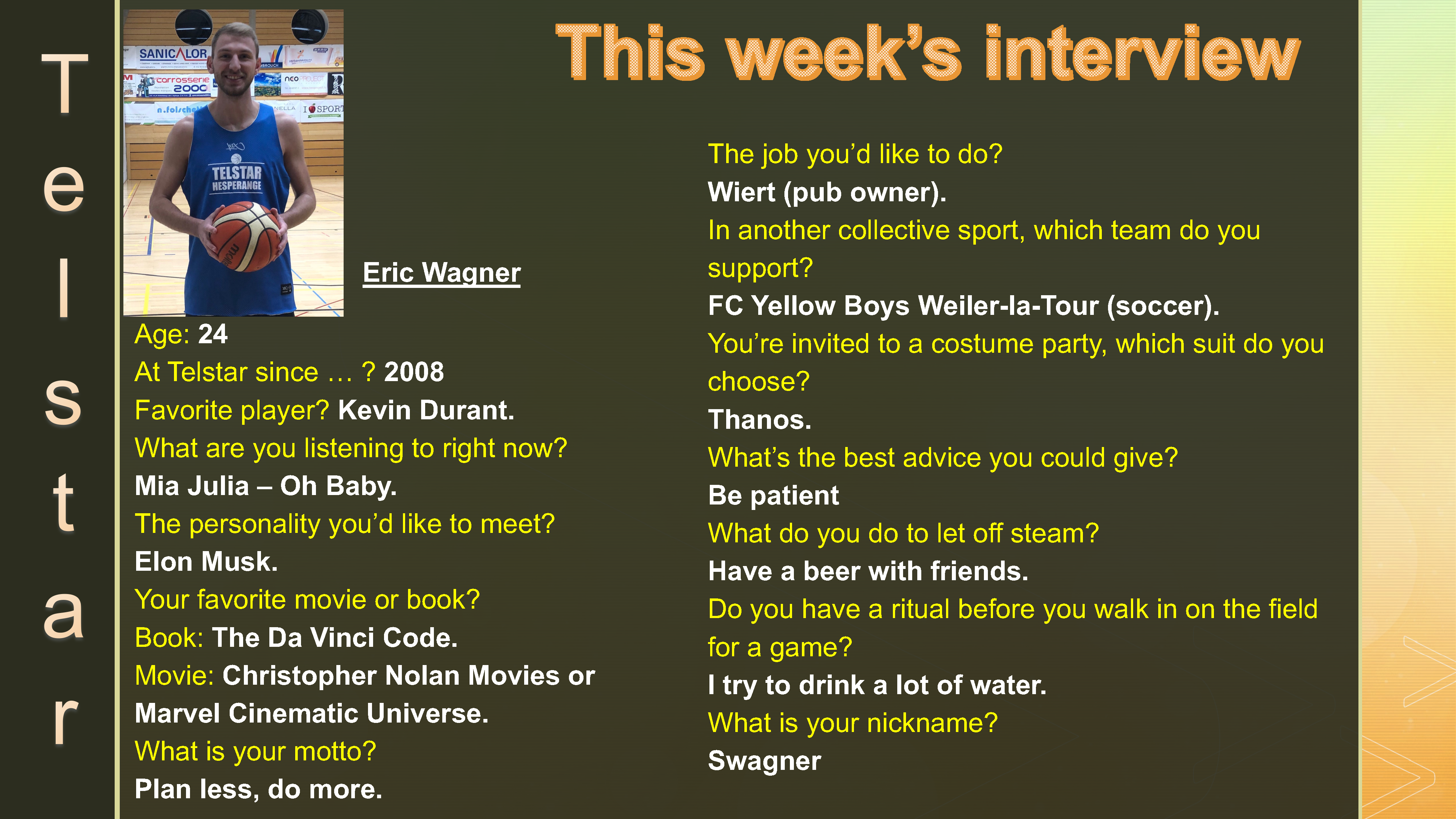 Interview of the Week #8