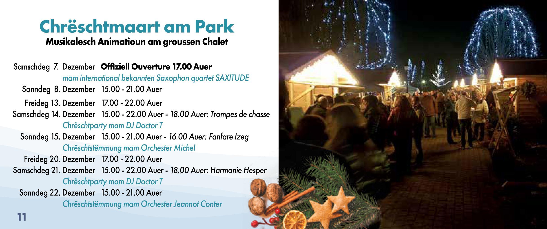 Indiaca ALzeng um Chreschtmaart zu Hesper den 13.-15.12.2019