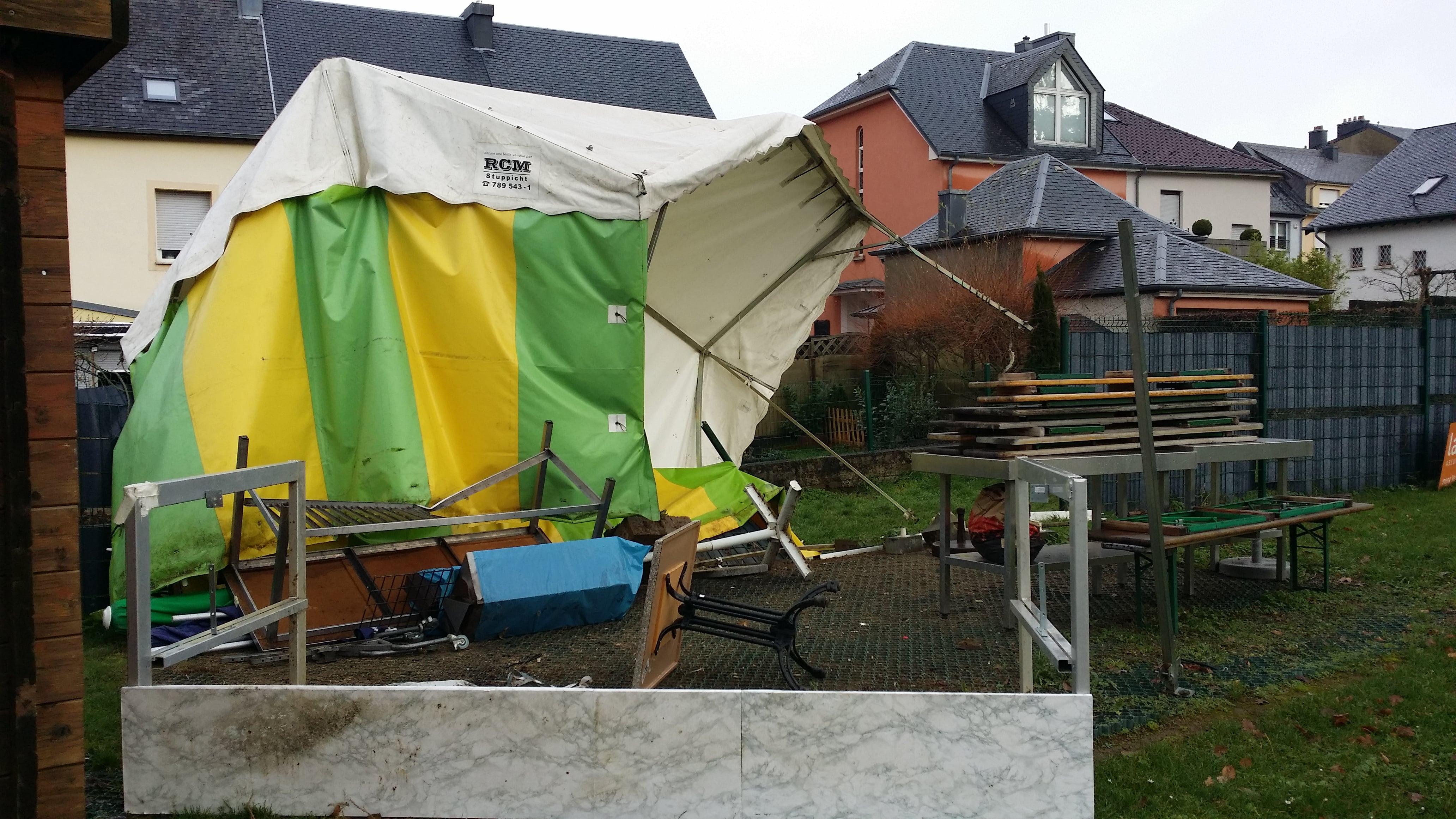 dégâts causés par tempête