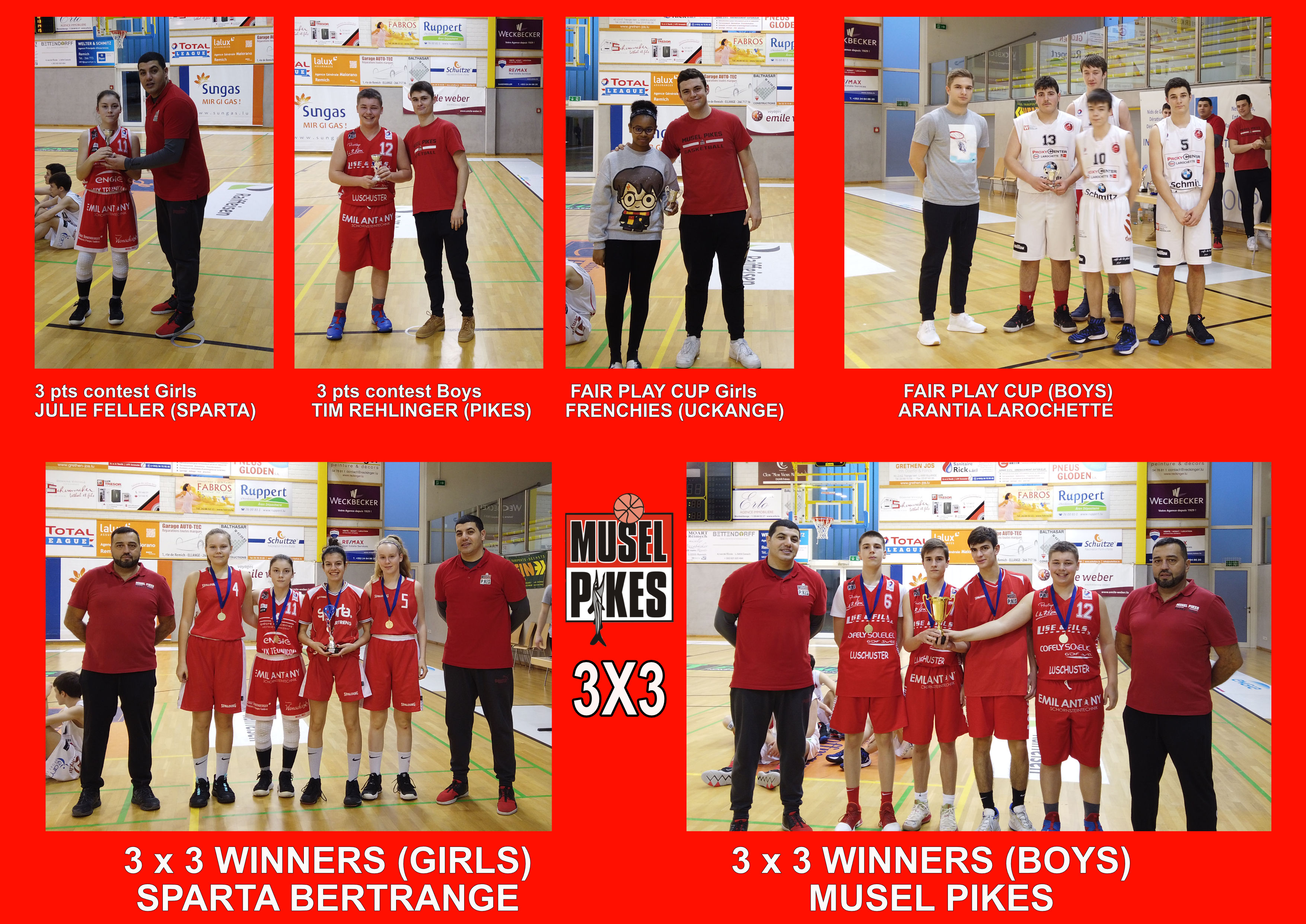 Musel Pikes 3 x 3 awards