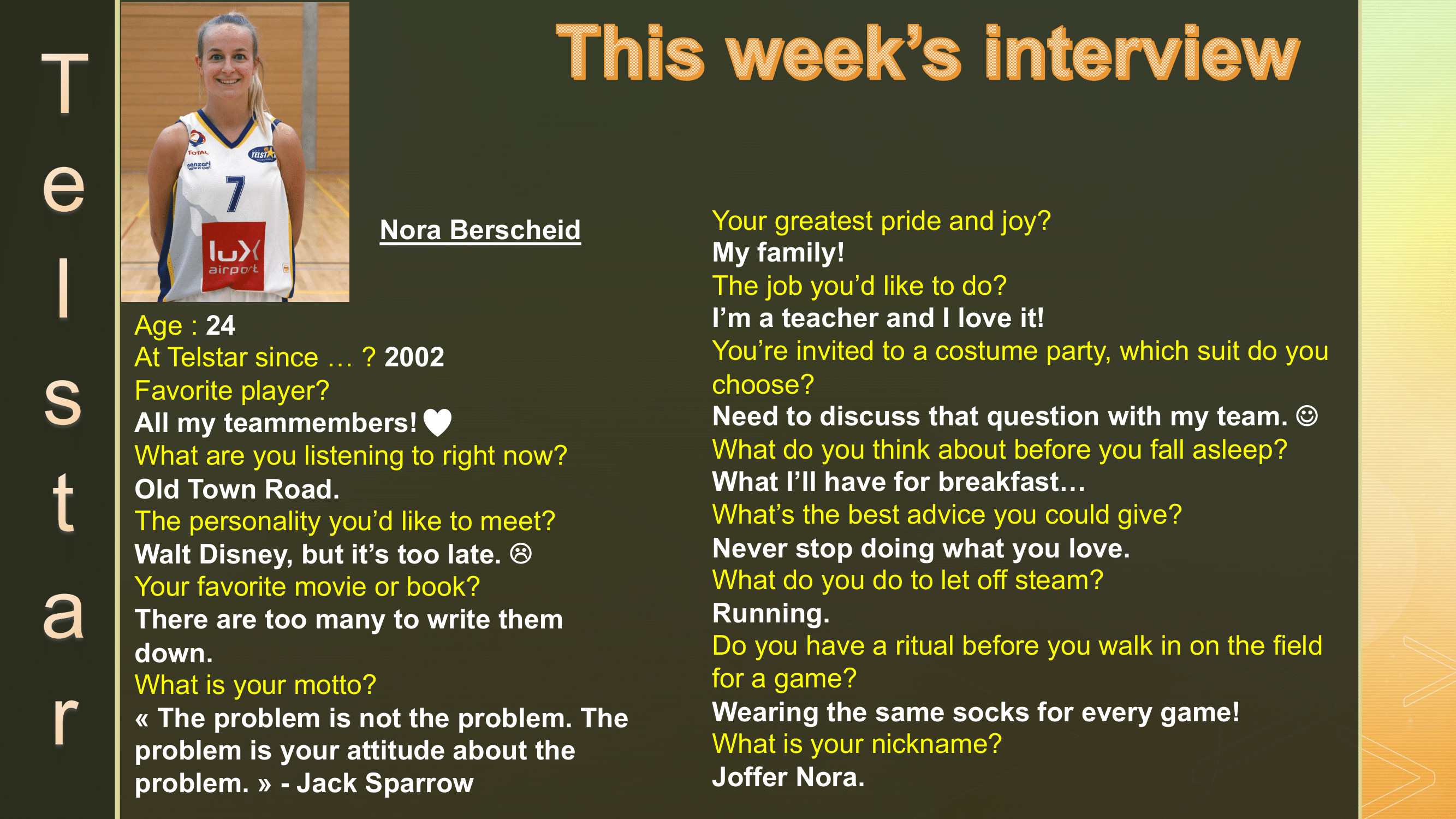 Interview of the Week #11