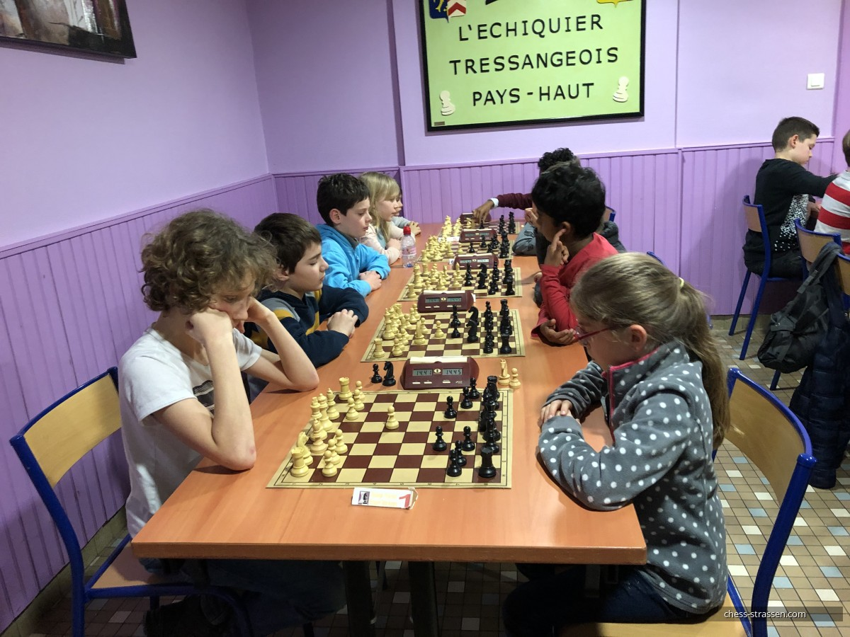 Chess results - 29eme Rapid'Echecs Rois & Reines - Tressange - 5th January 2020