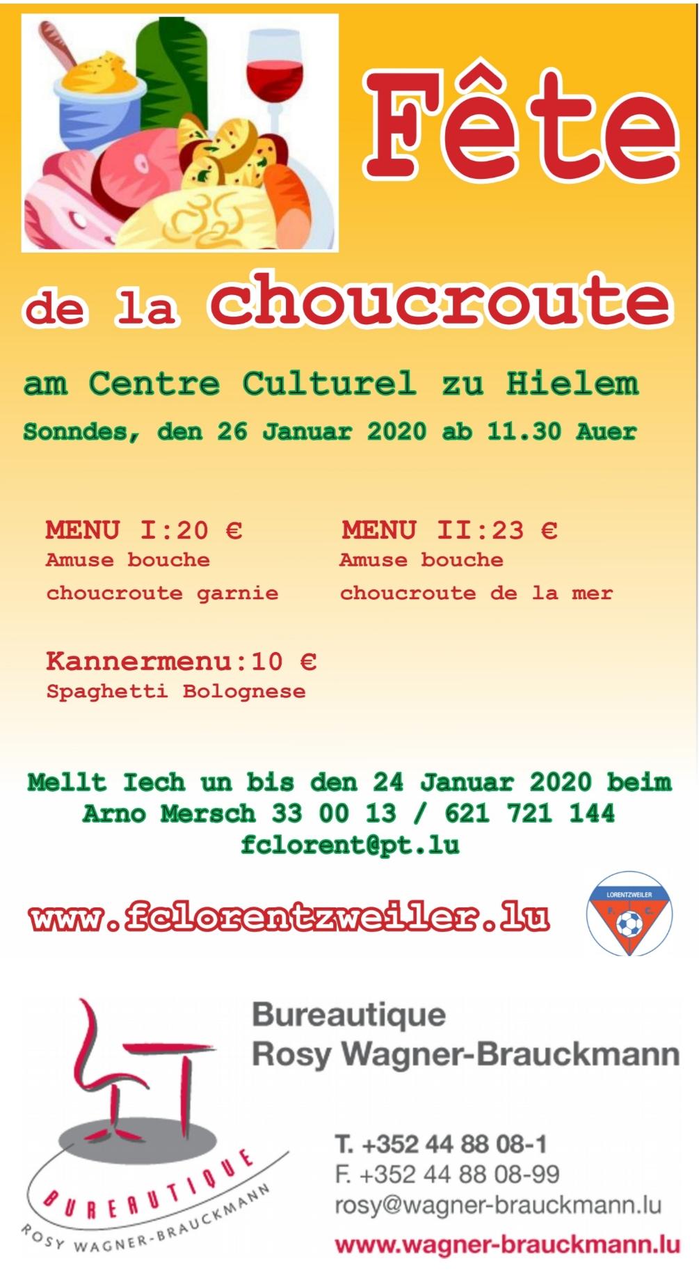 FCL Fête de la Choucroute - 26.01.2020