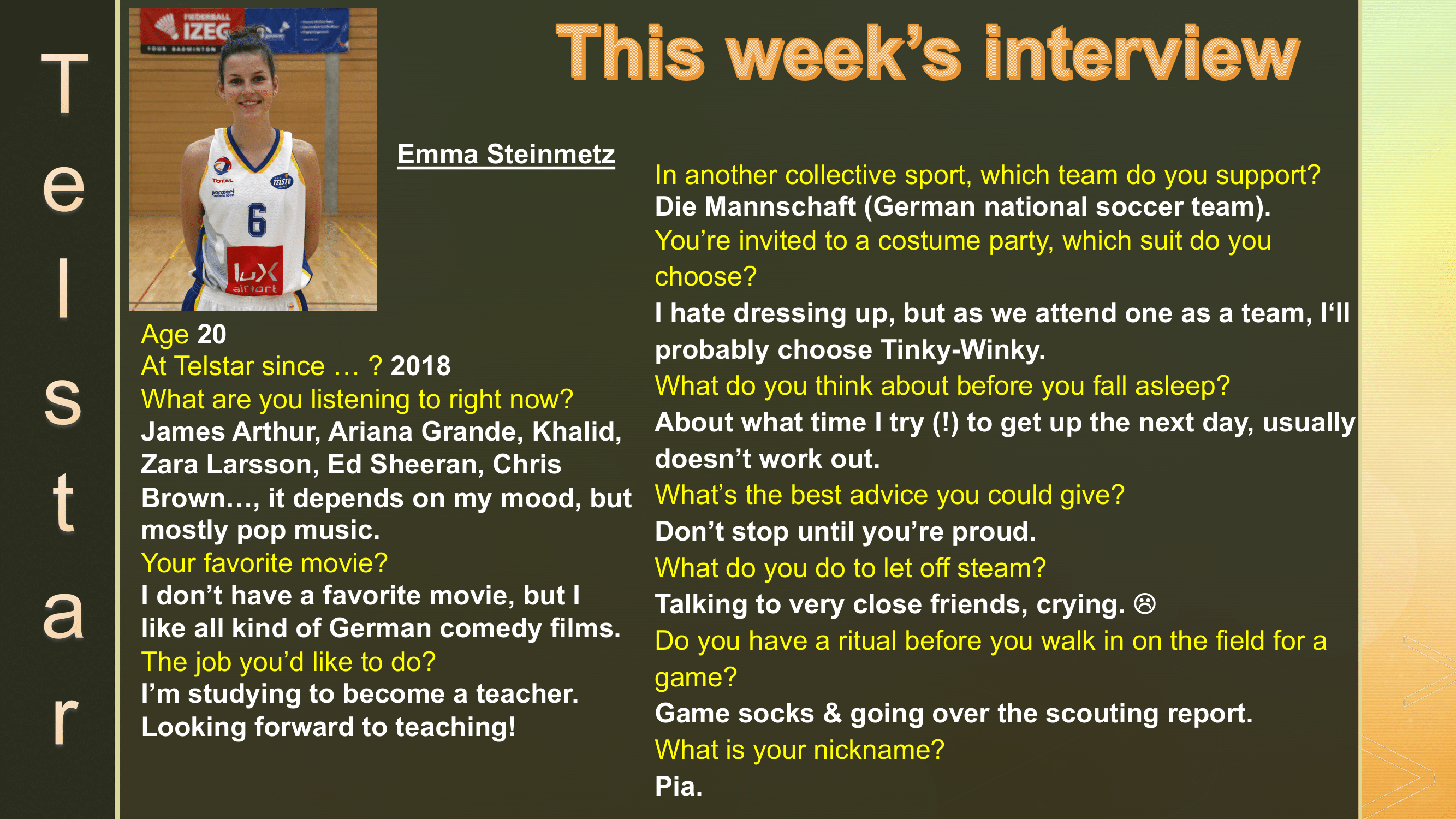 Interview of the Week #13