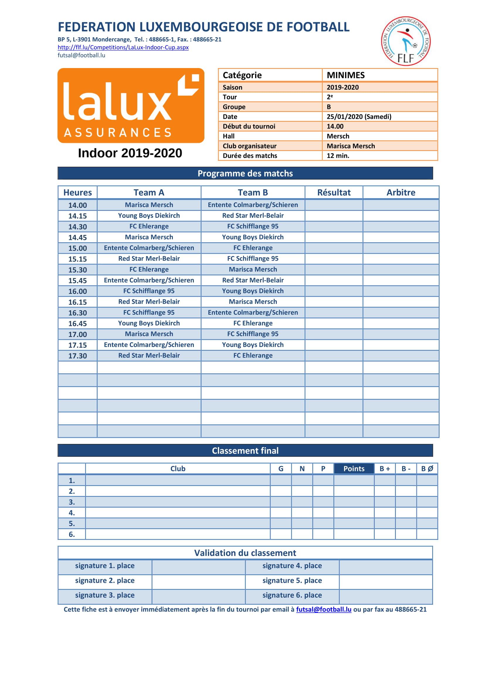 LaLux Futsal Cup 2e tour
