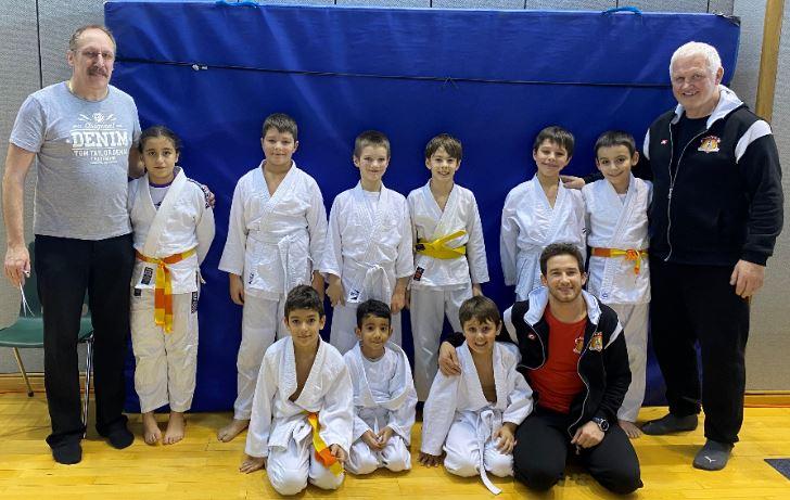 Judo Club Stroossen beim Mini Judo in Dudelange