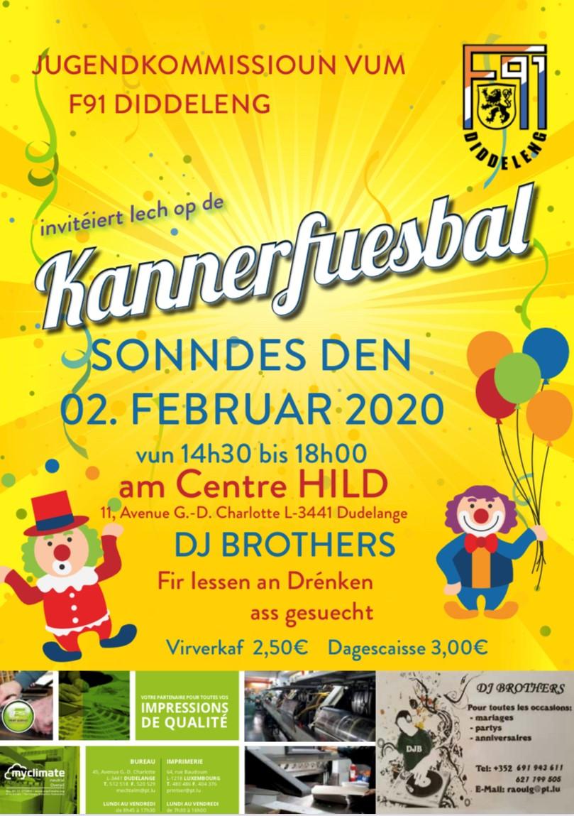Kannerfuesbal - 2. Februar am Centre Hild zu Diddeleng