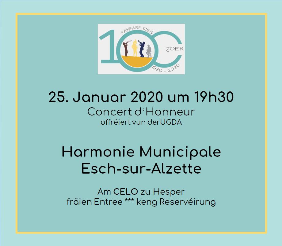 Concert vun der Escher Stadmusek am CELO