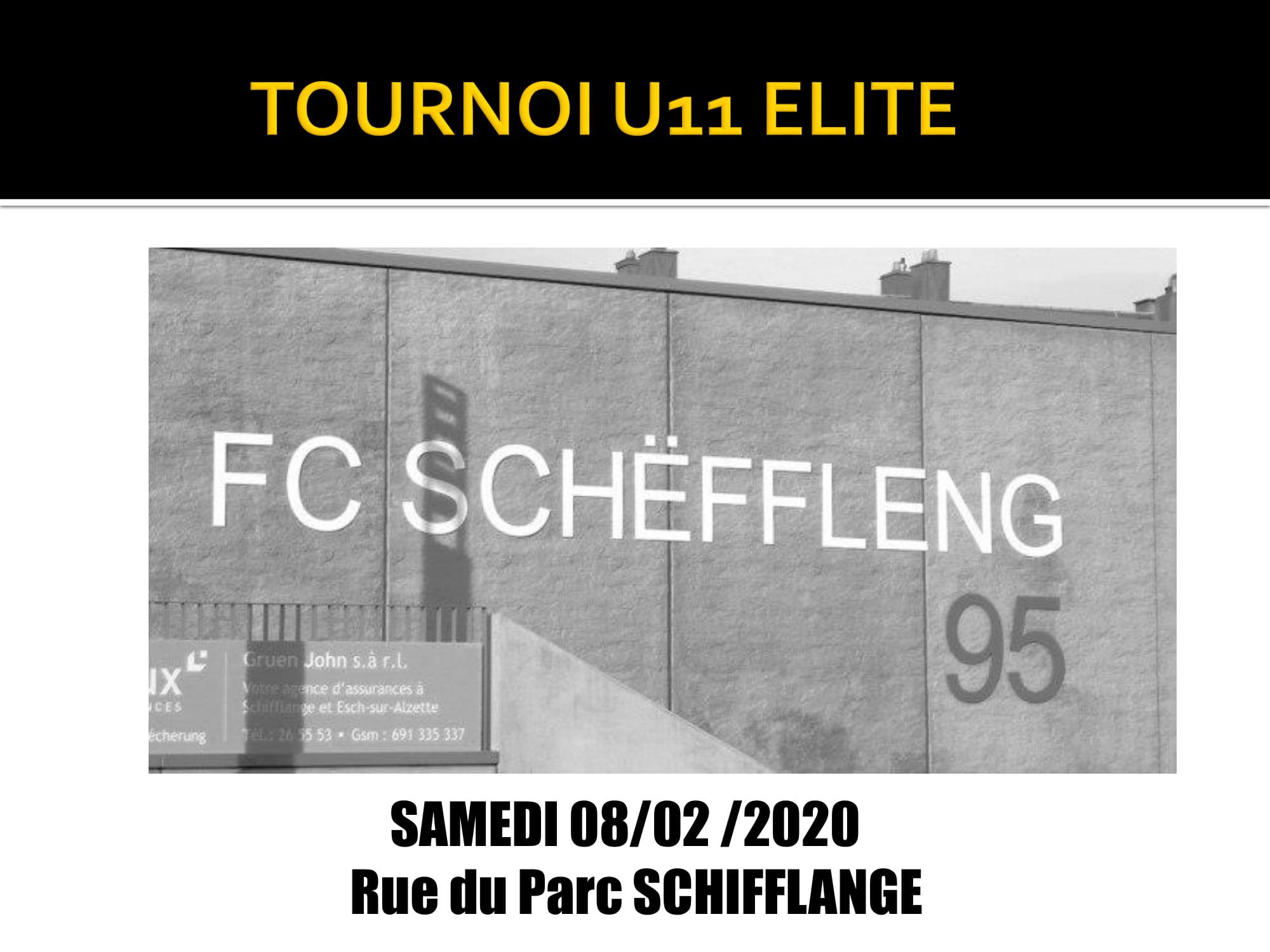 Tournoi U11 Elite  samedi 08.02.20