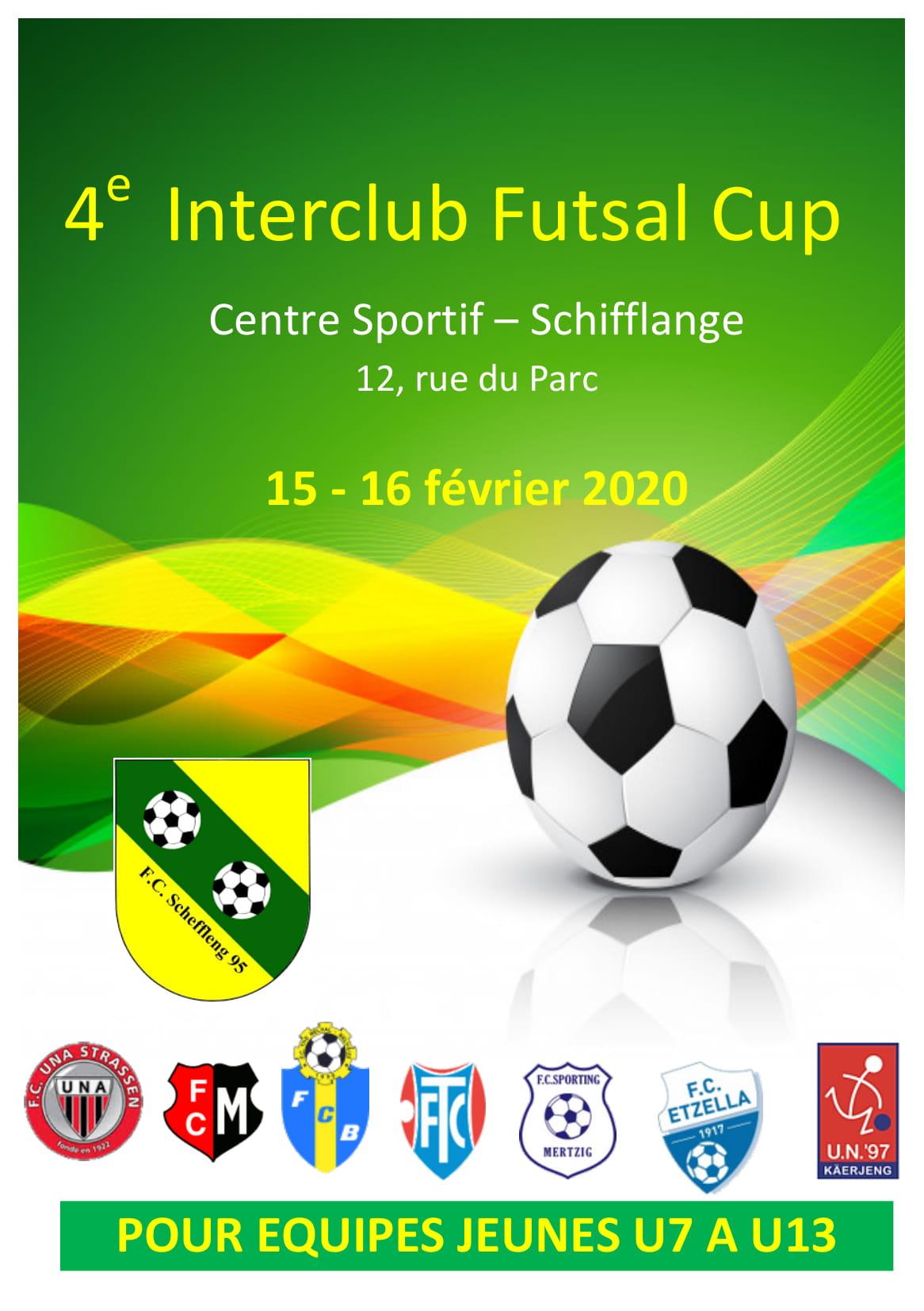 4. INTERCLUB FUTSAL CUP 15 au16.02.2020