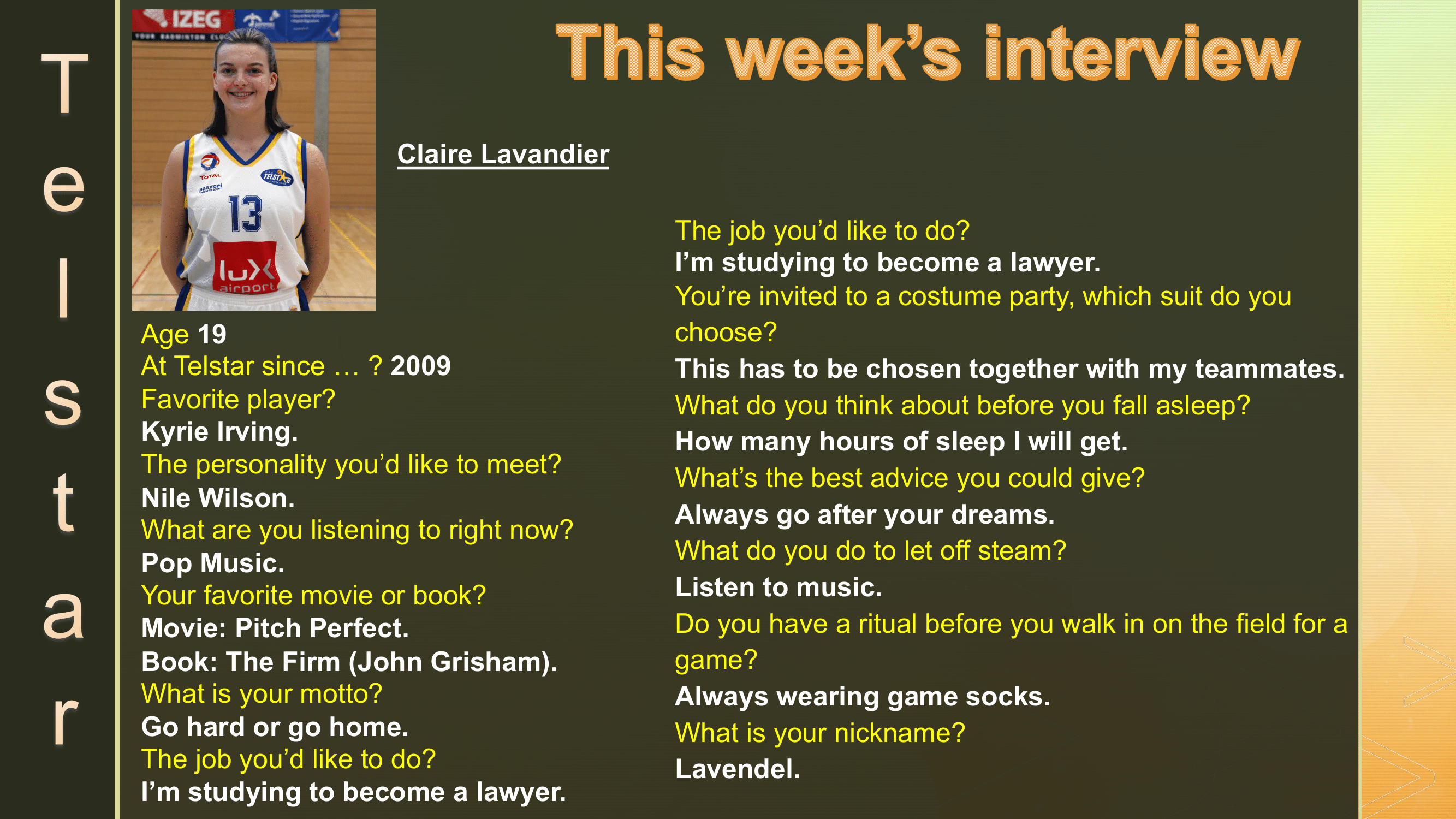 Interview of the Week #15