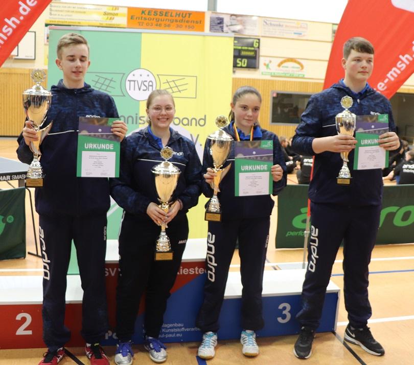 DJK TTV Biederitz rockt die Mitteldeutschen Meisterschaften im Nachwuchs U18 und U15