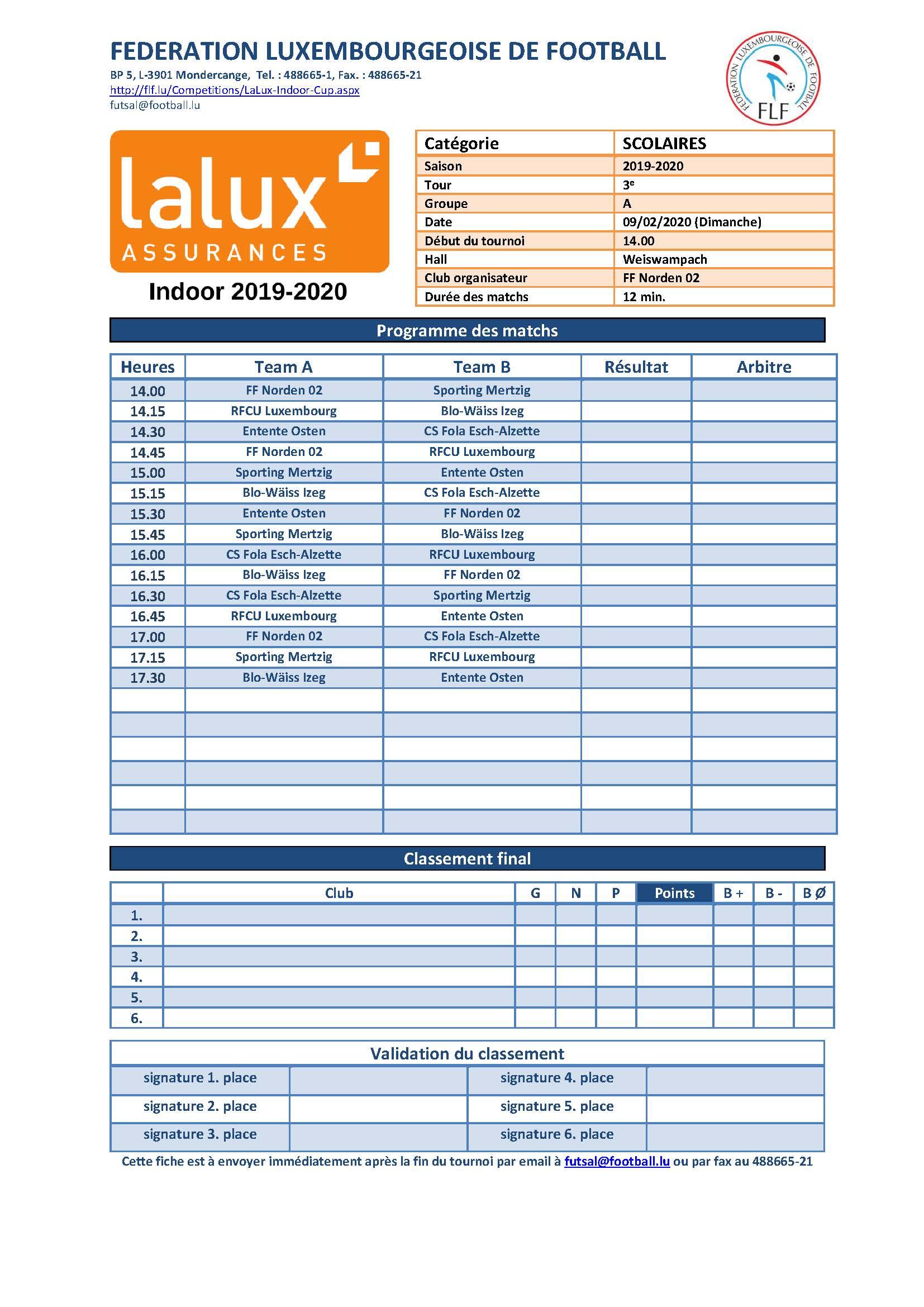 LALUX - INDOOR 2020 - Scolaires
