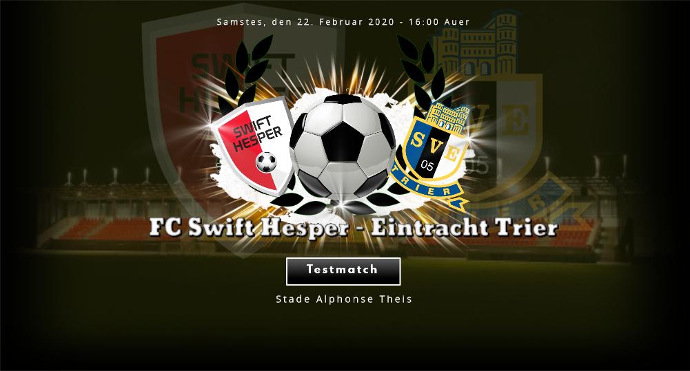 Heemmatch géint Eintracht Trier