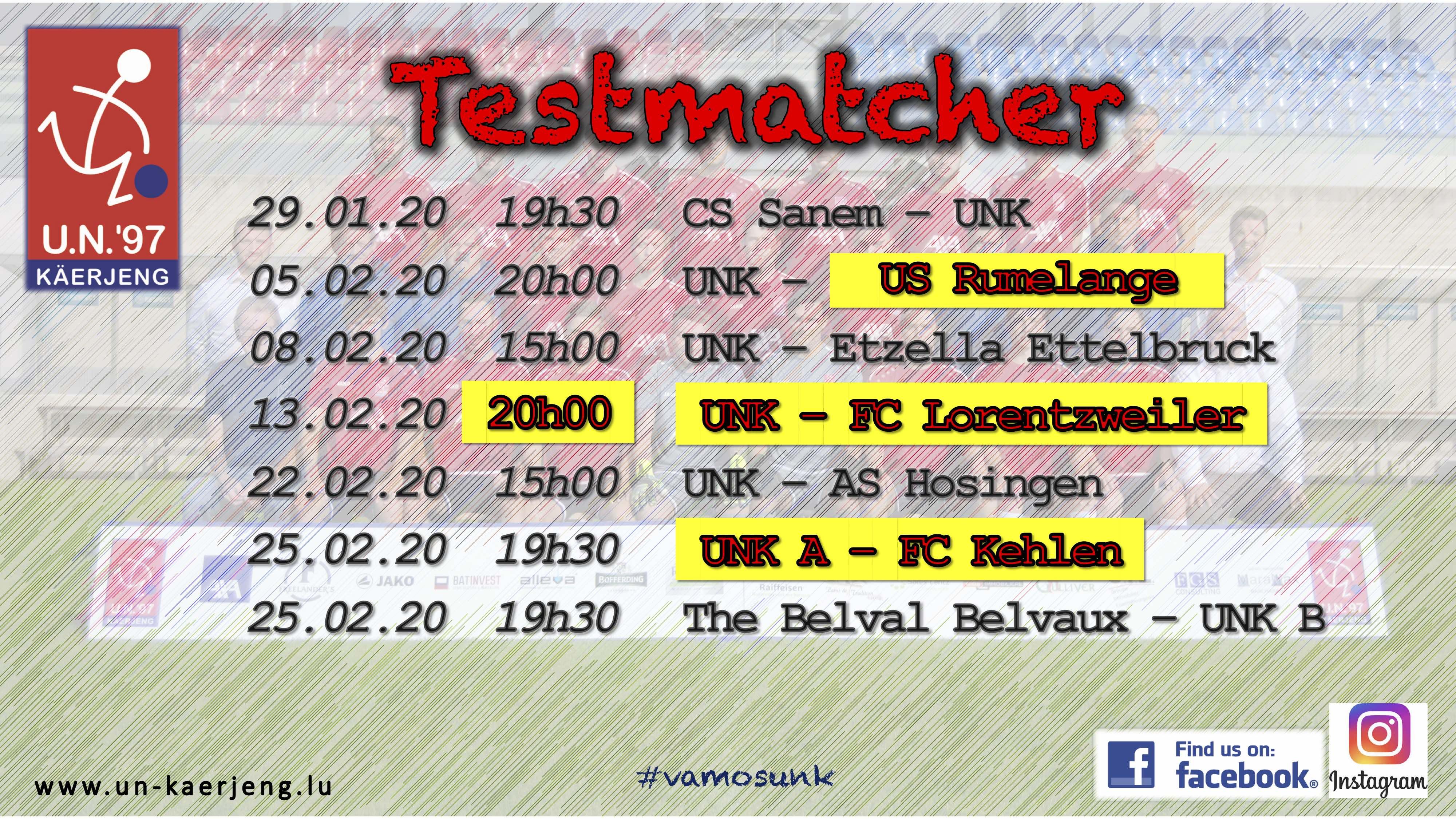 *** Update Programm Testmatcher ***