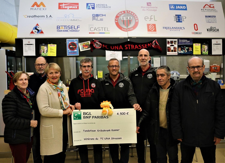 CHARITY CUP 2019 - CHEQUE DE 4.500€ POUR LA FONDATIOUN KRIIBSKRANK KANNER