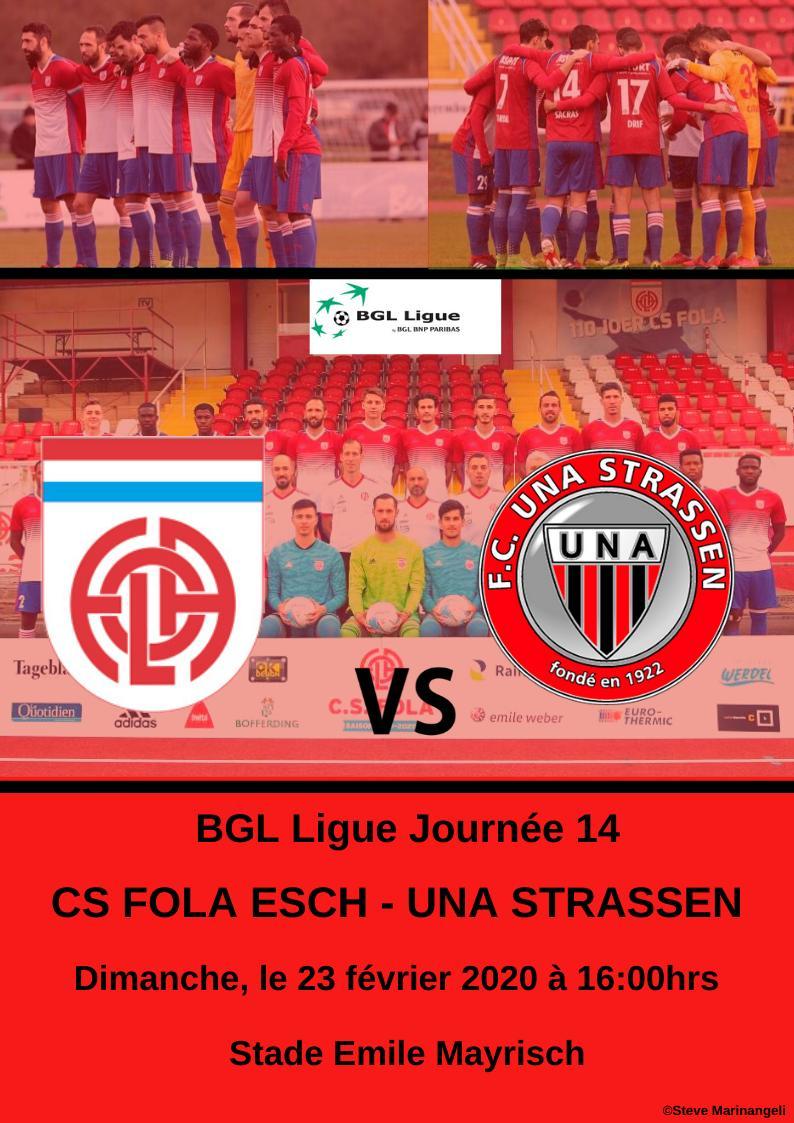CS FOLA - FC UNA Srassen