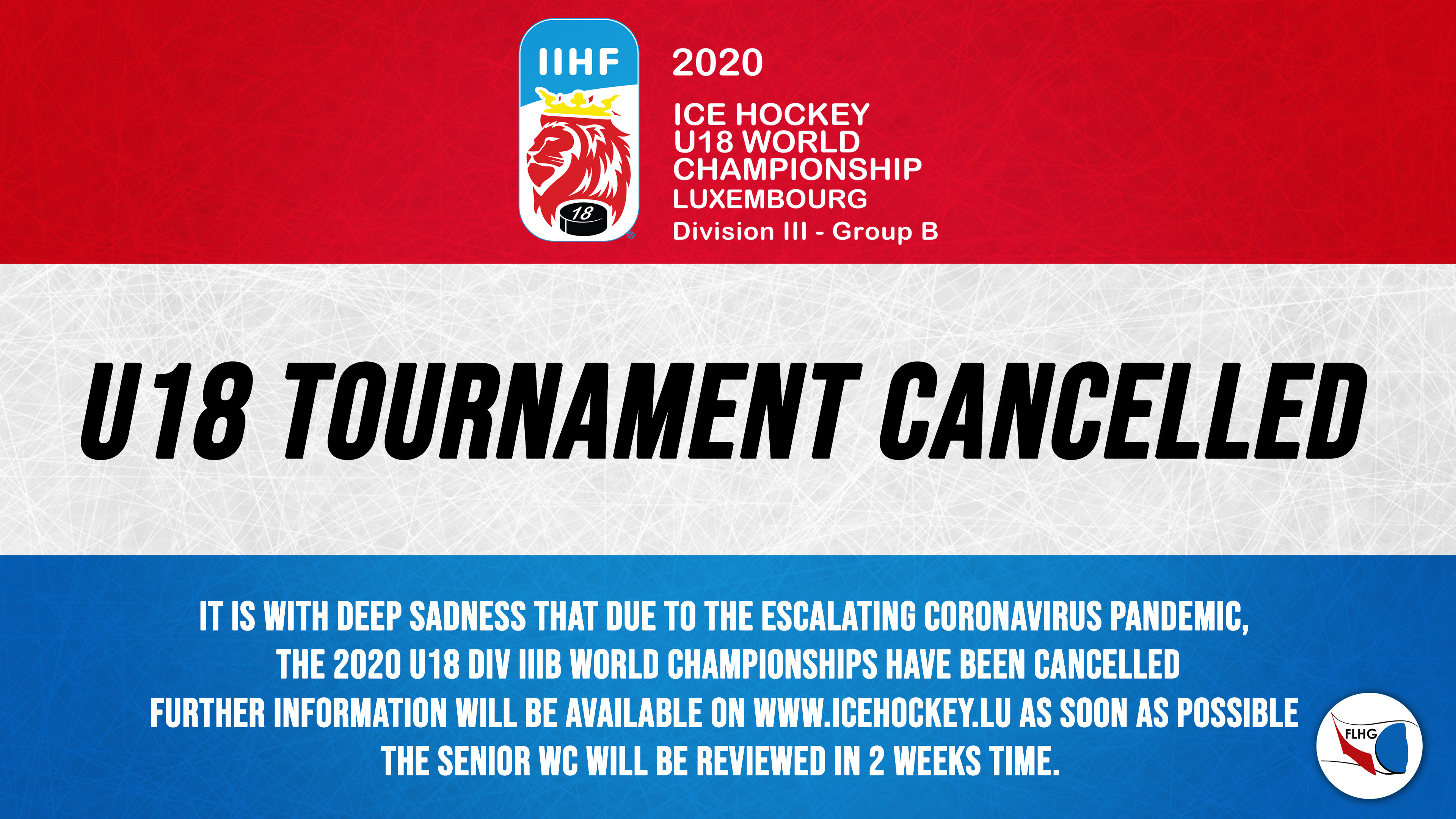 2020 U18 World Championships cancelled / championnats du monde U18 annulé
