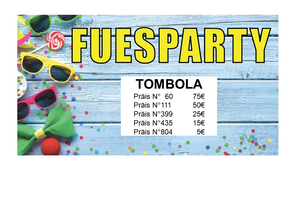 Tombola Fuesparty 2020