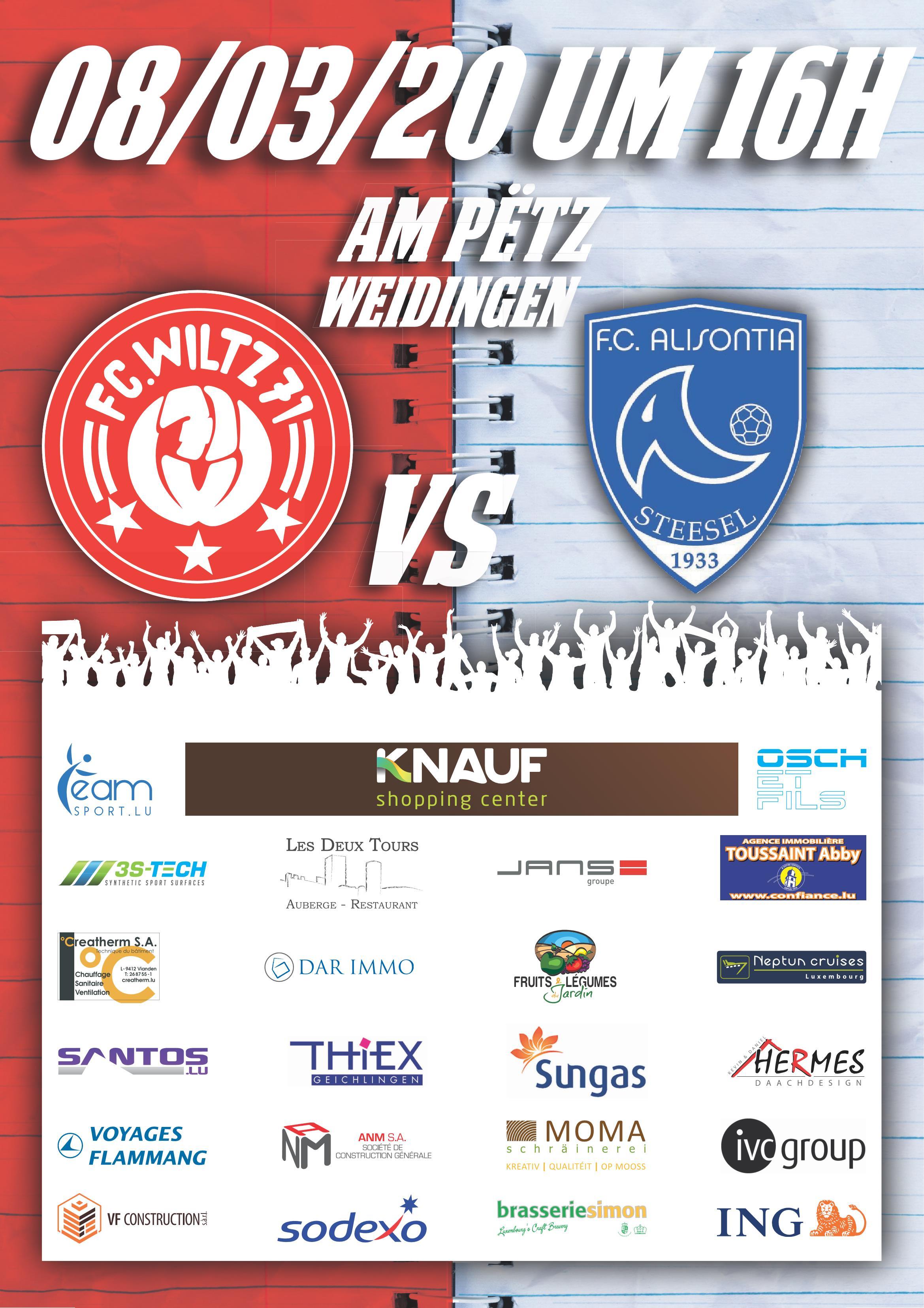 FC Wooltz 71 vs FC Alisontia Steesel