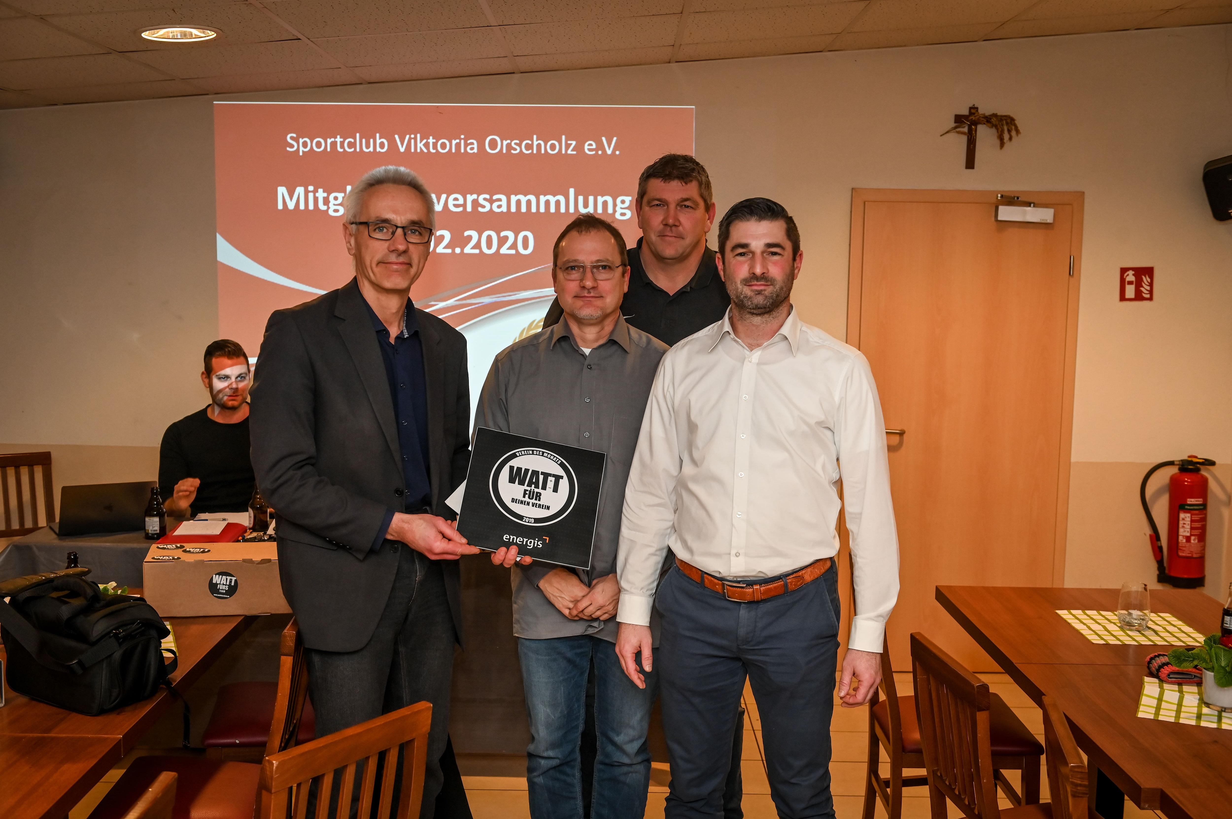 Es werde Licht! Sportclub Viktoria Orscholz e.V. als Verein des Monats Dezember ausgezeichnet.