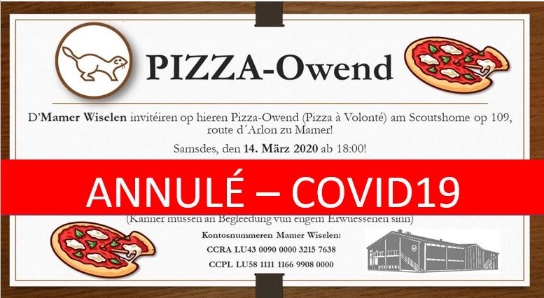 Annulation Pizzaowend