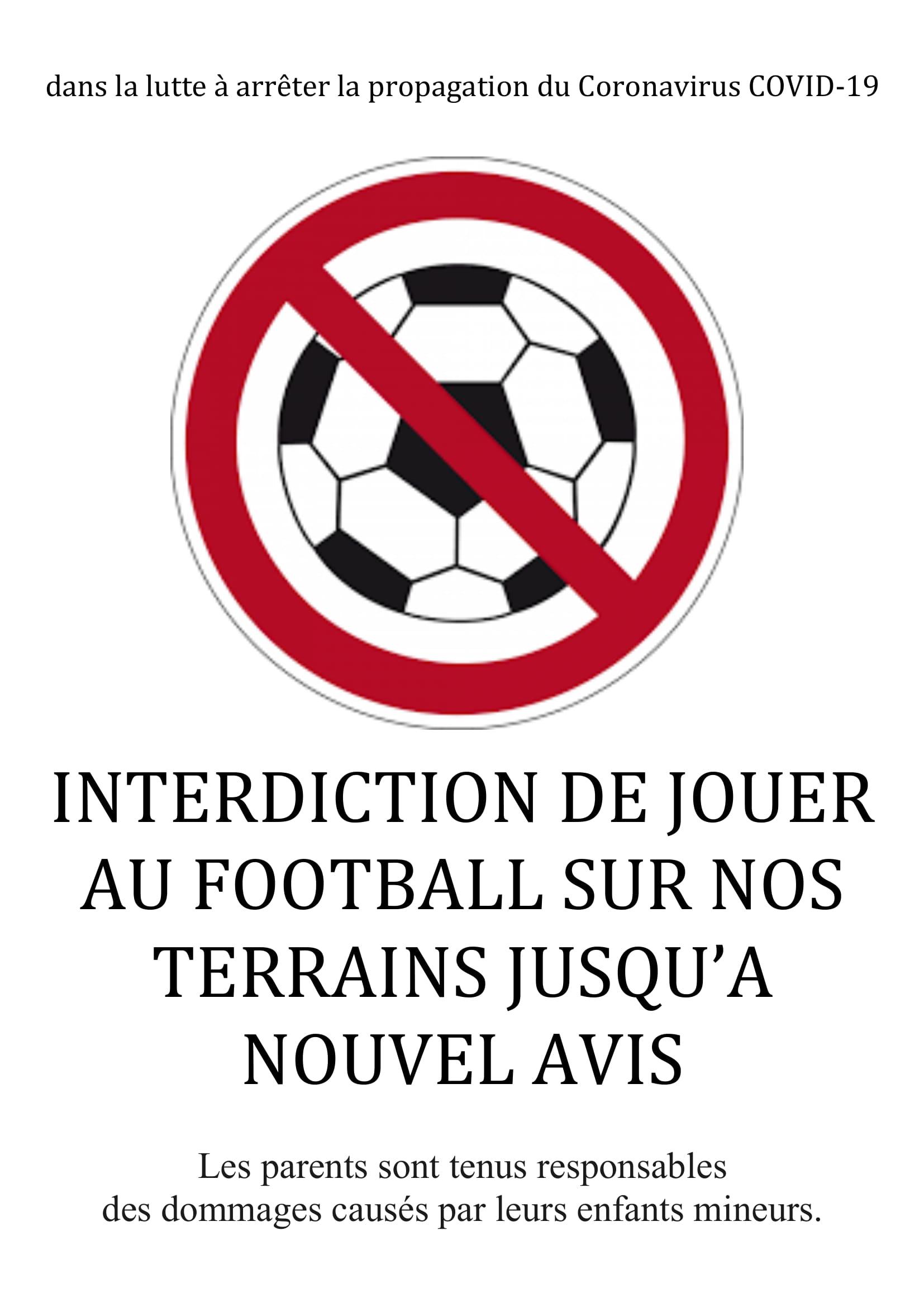 interdiction de jouer aux installations du FCS
