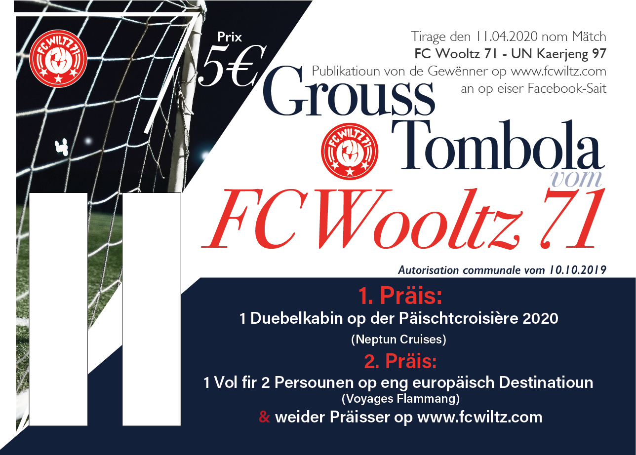 UPDATE - Grouss Tombola vom FC Wooltz 71