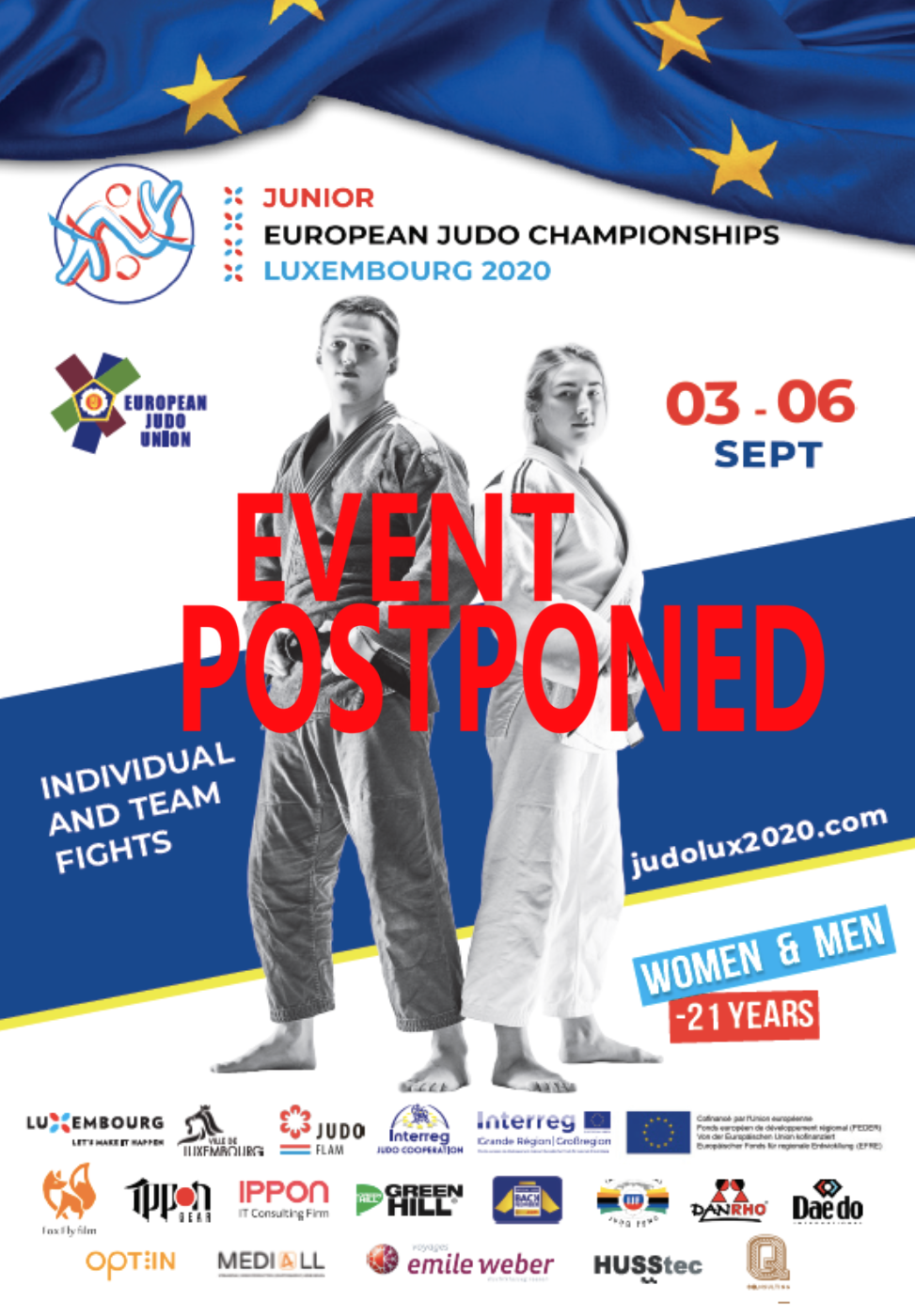 Junior European Judo Championships Luxembourg 2020 - POSTPONED!