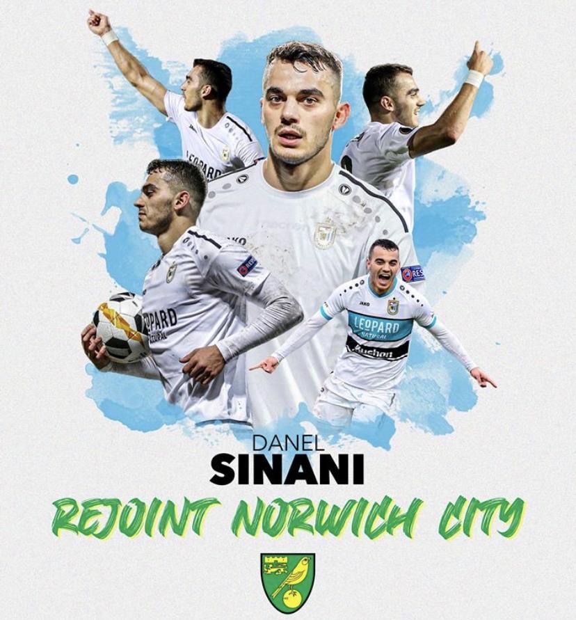 Transfer de Danel Sinani à Norwich City