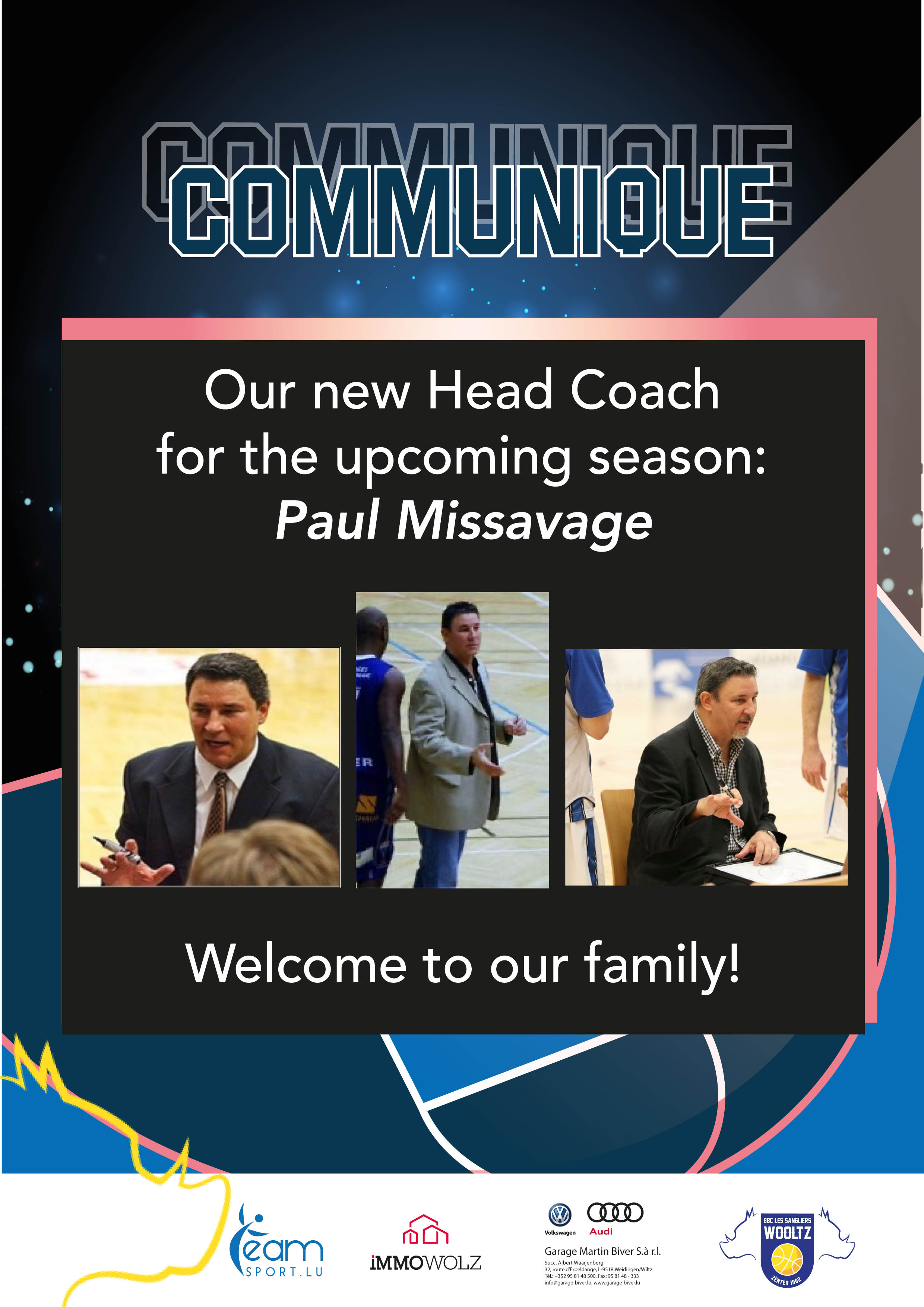 Neien Head Coach: Paul Missavage