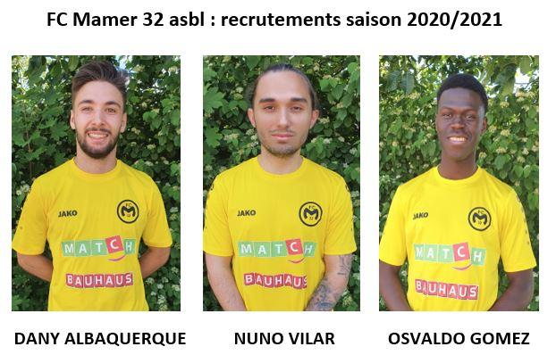 FC Mamer 32: recrutements pour la saison 2020/2021