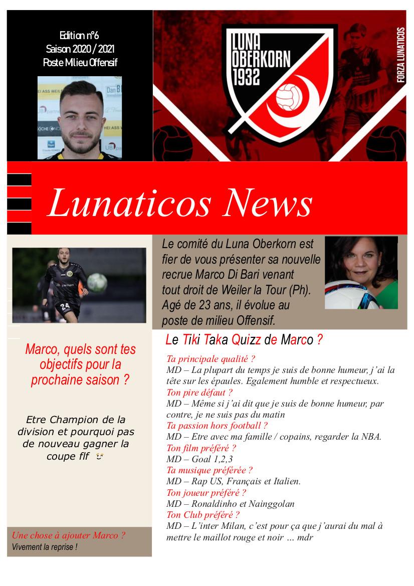 Lunaticos News #6 Pour faire plus amples connaissances ...