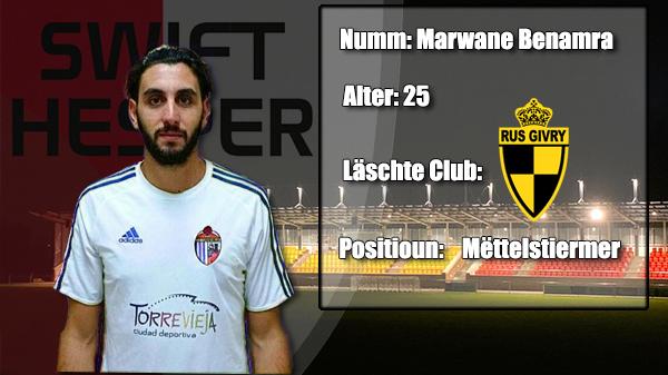 Transfer: Marwane Benamra