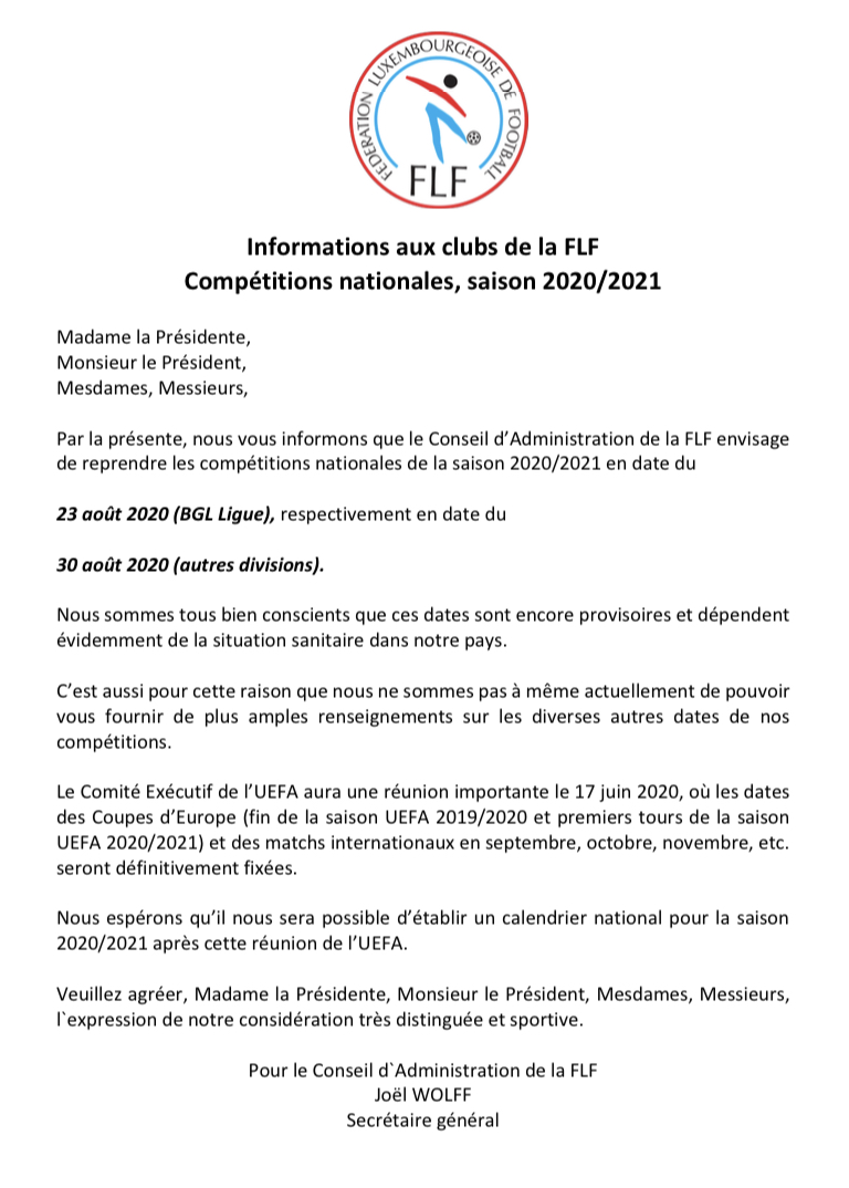 Informations FLF