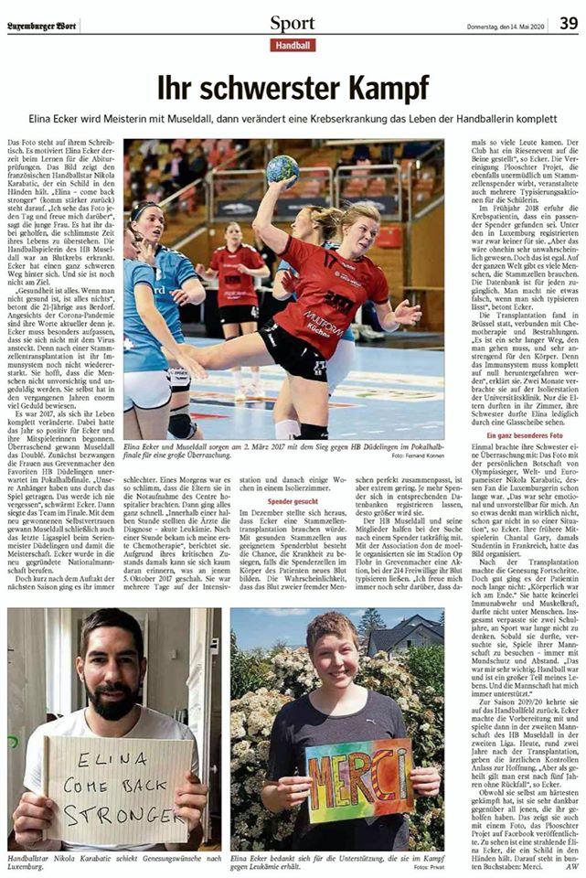 Luxemburger Wort - Ihr schwerster Kampf