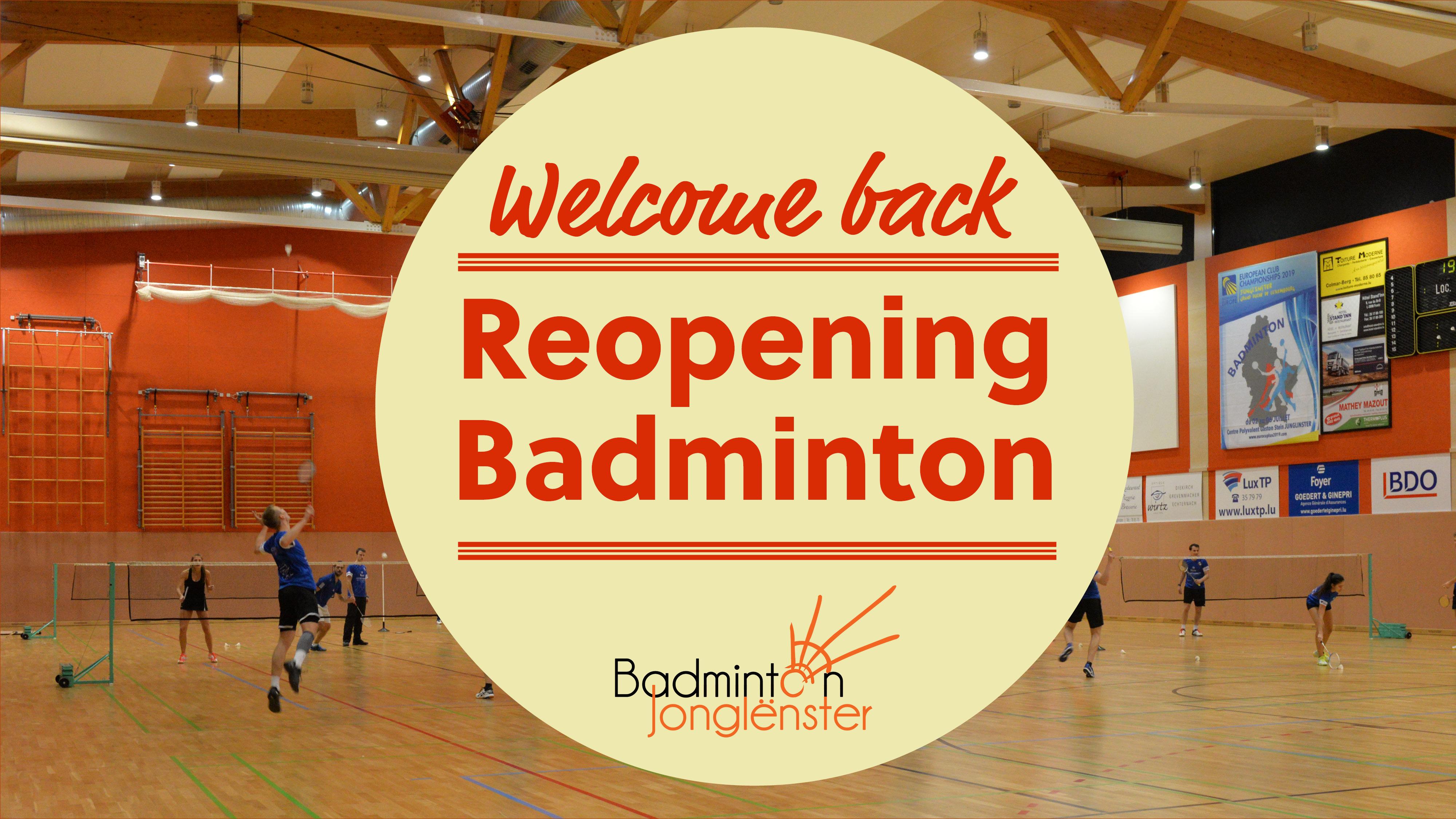 Reprise des entrainements de badminton