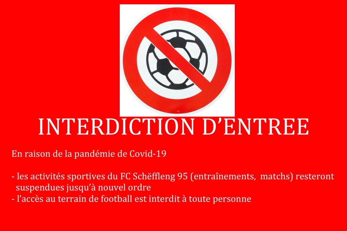 Interdiction d'entrée au stade