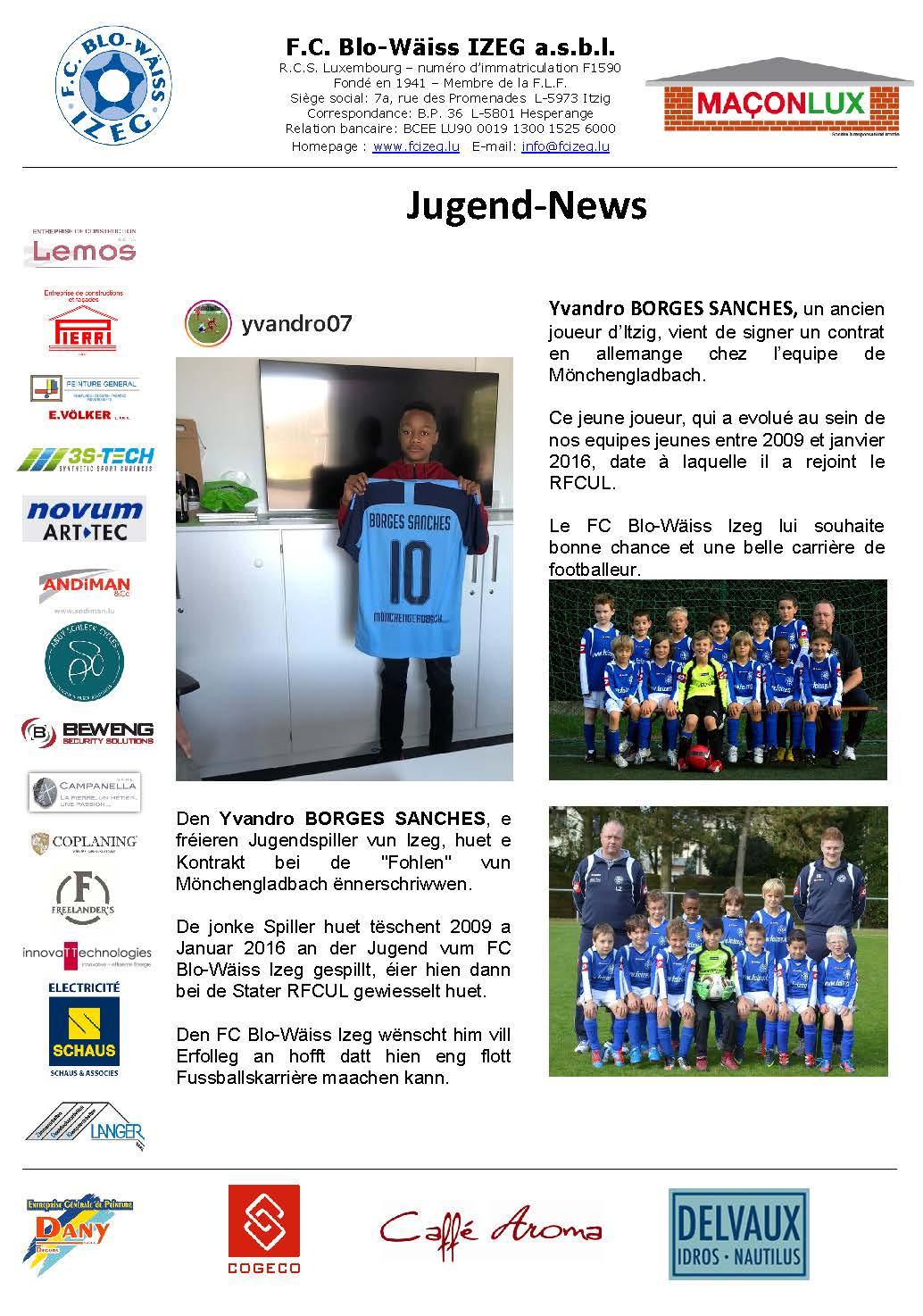 Transfert bei d'Fohlen op Mönchengladbach