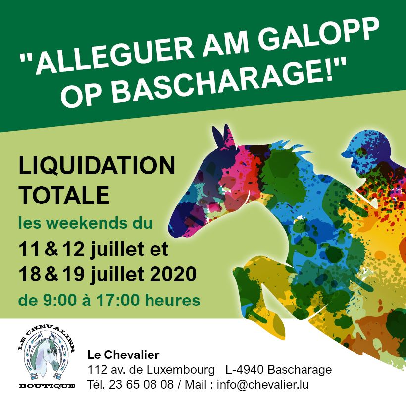 Liquidation 'Boutique Le Chevalier'