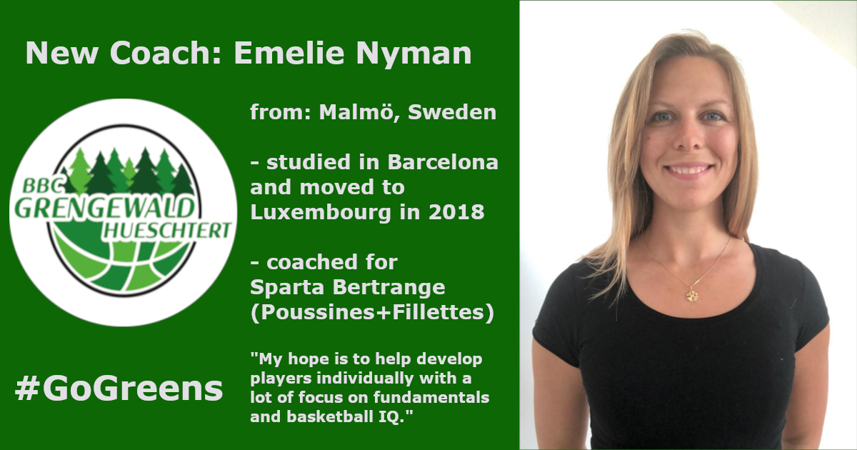 New coach for the Greens: Emelie Nyman