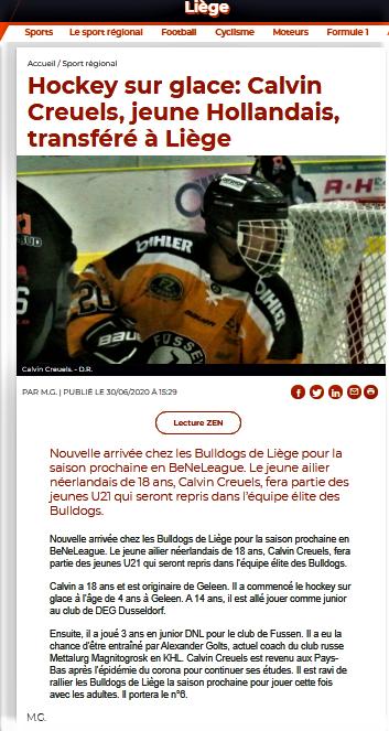 La Meuse web de ce 30 juin et papier de ce 1er juillet