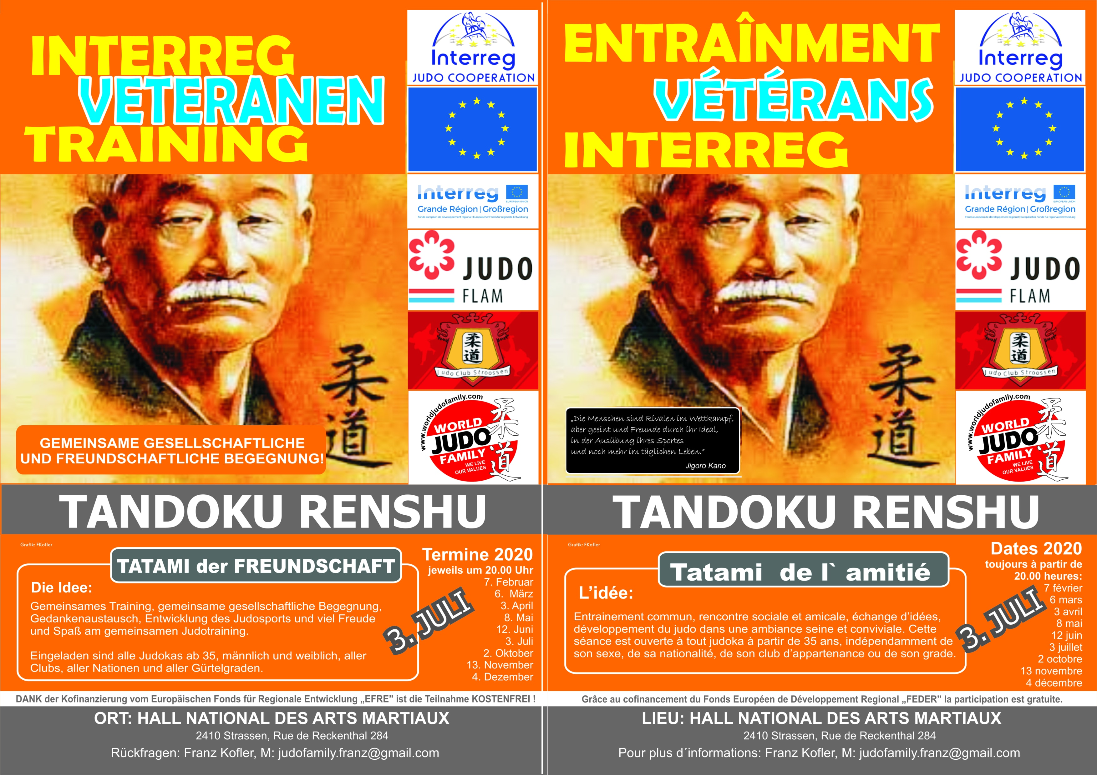 03.07.2020 - Interreg Judo Veteranen Training