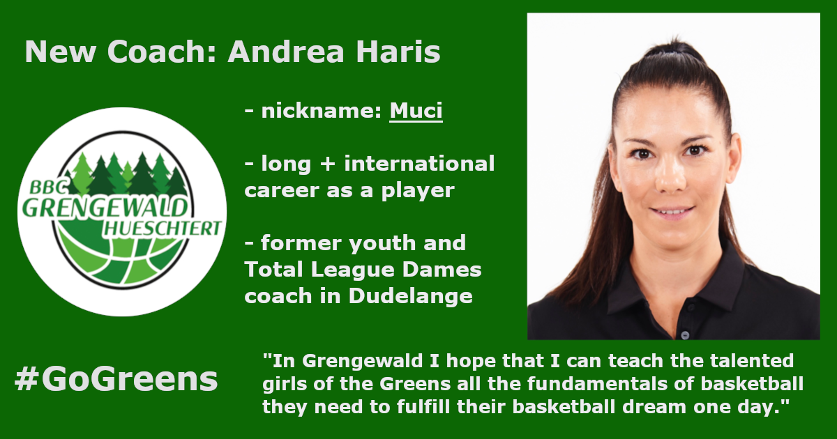 New coach for the Greens: Andrea Haris (Muci)