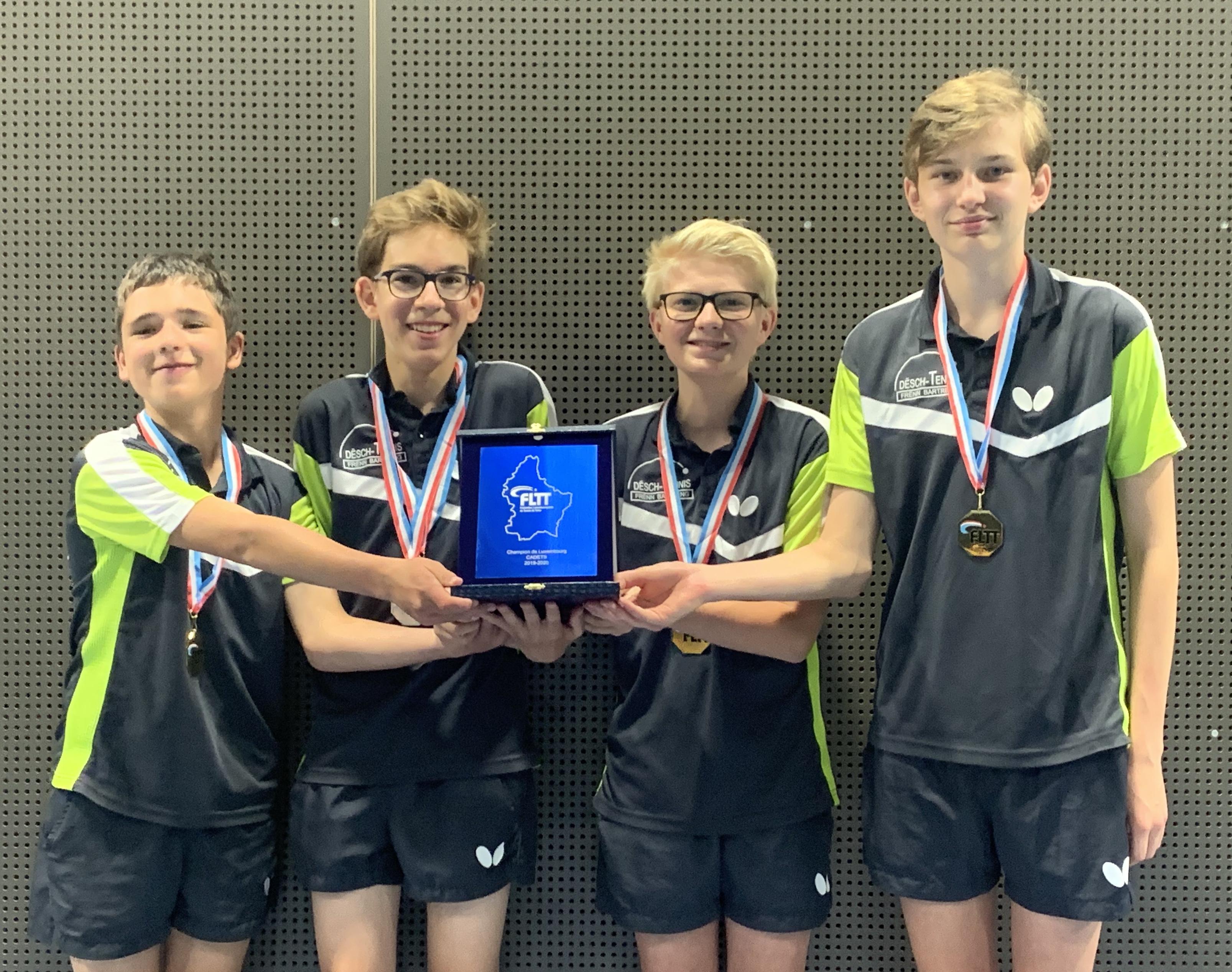 Cadets - Champion de Luxembourg 2019/2020