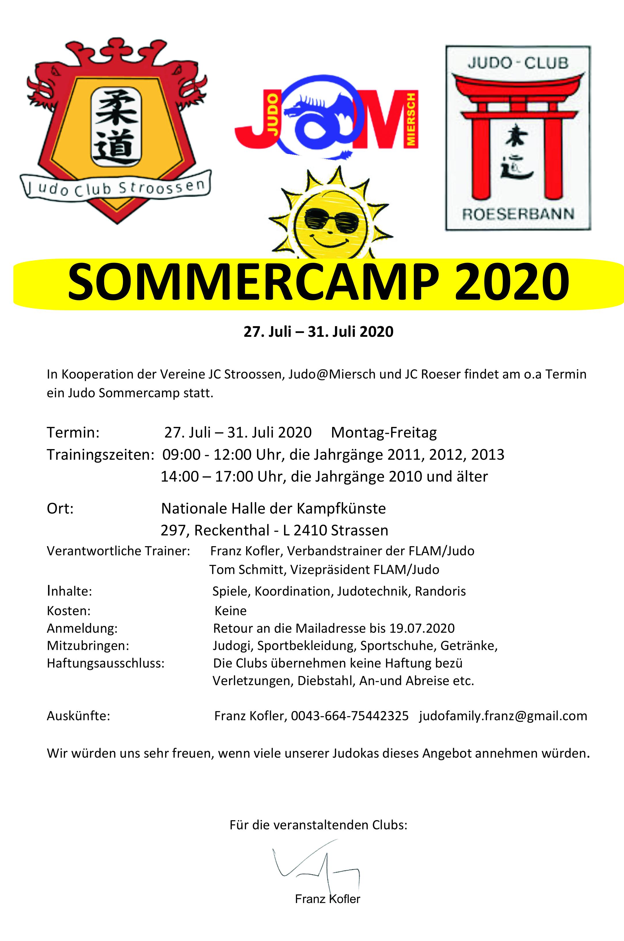 Sommercamp 27-31.07.2020