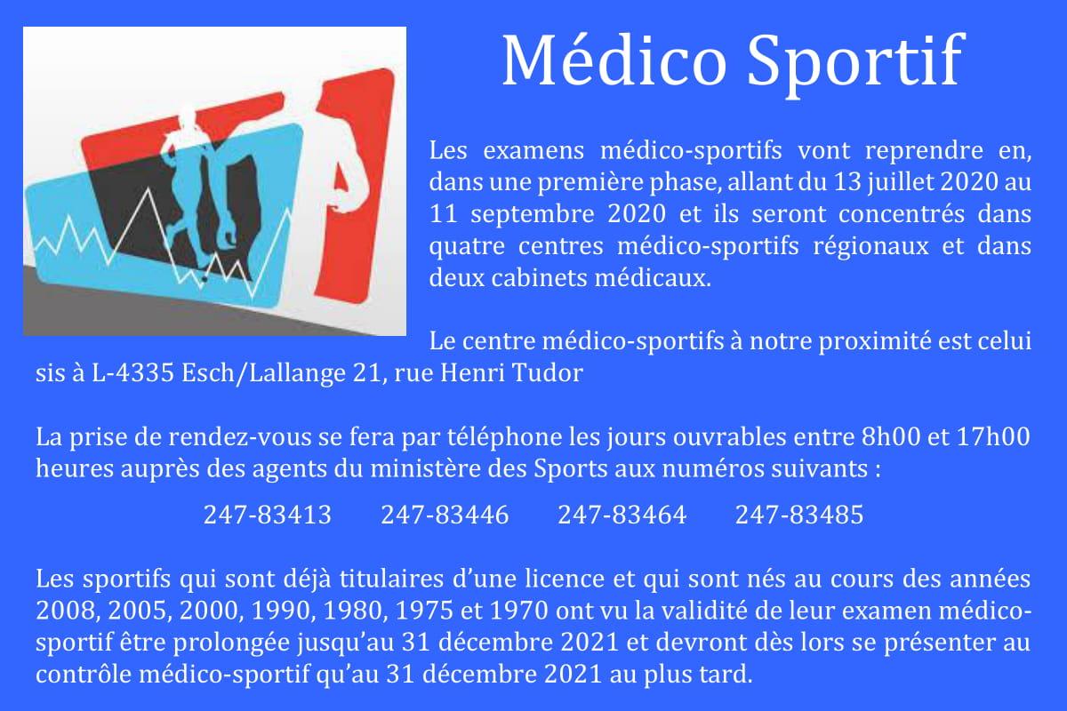 contrôle Médico Sportif