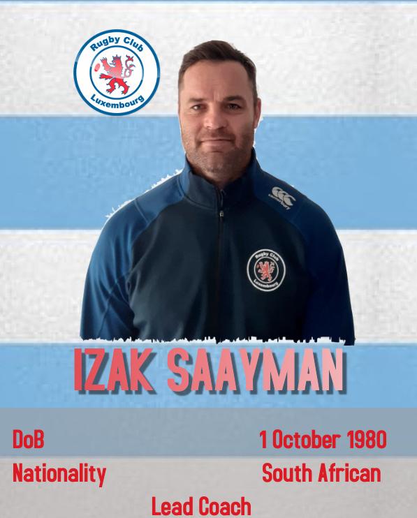 Izak Saayman- Lead Coach